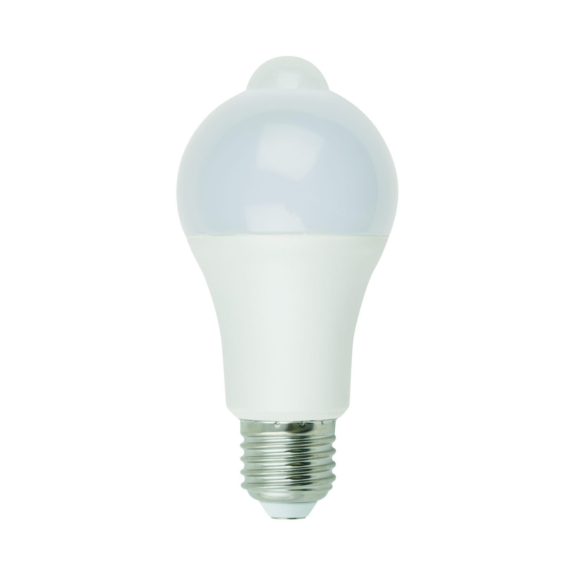 Лампа светодиодная с датчиком движения и освещенности E27 Uniel Smart 200-250 В 12 Вт груша матовая 900 лм белый свет