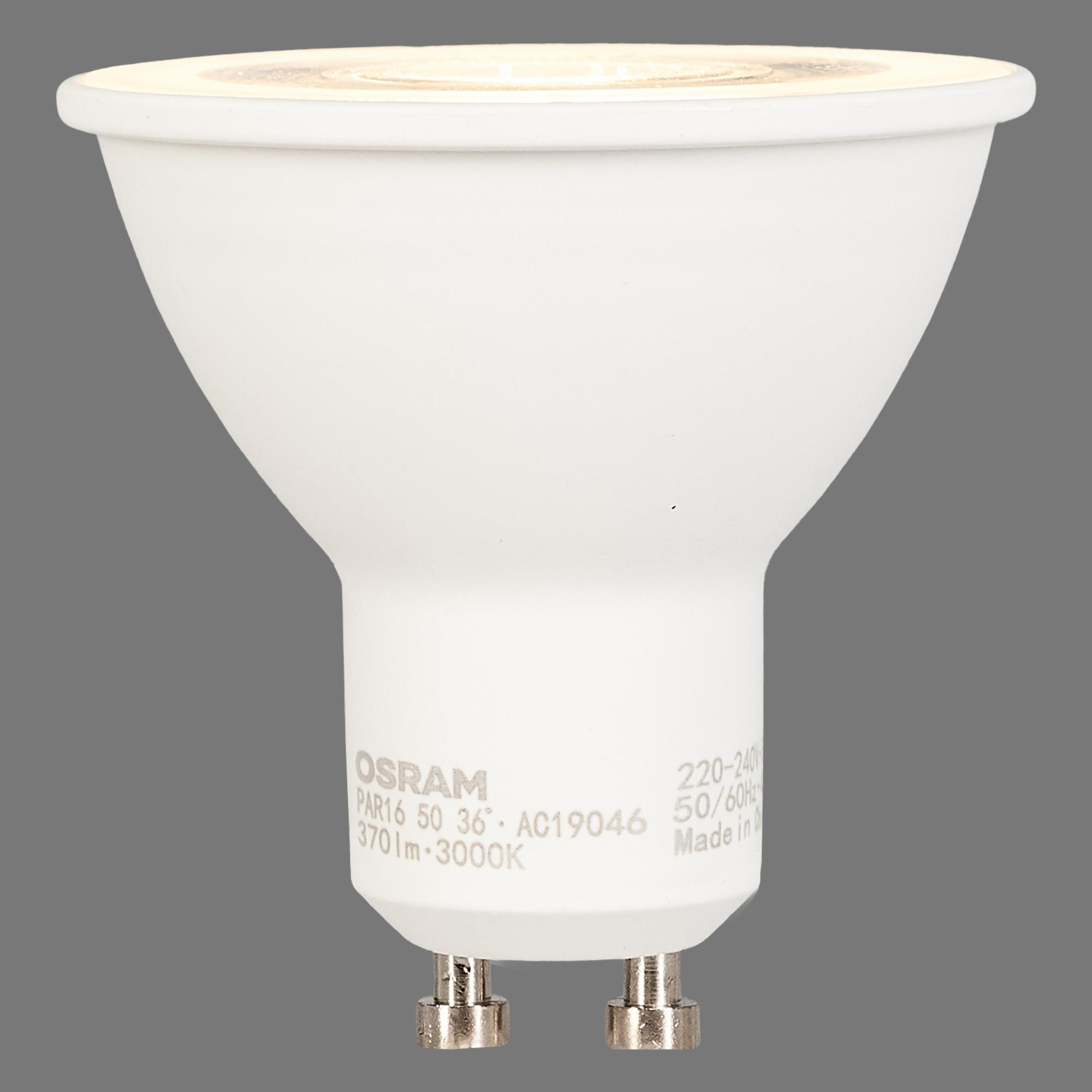 Лампа светодиодная Osram GU10 5 Вт спот прозрачная 370 лм тёплый белый свет