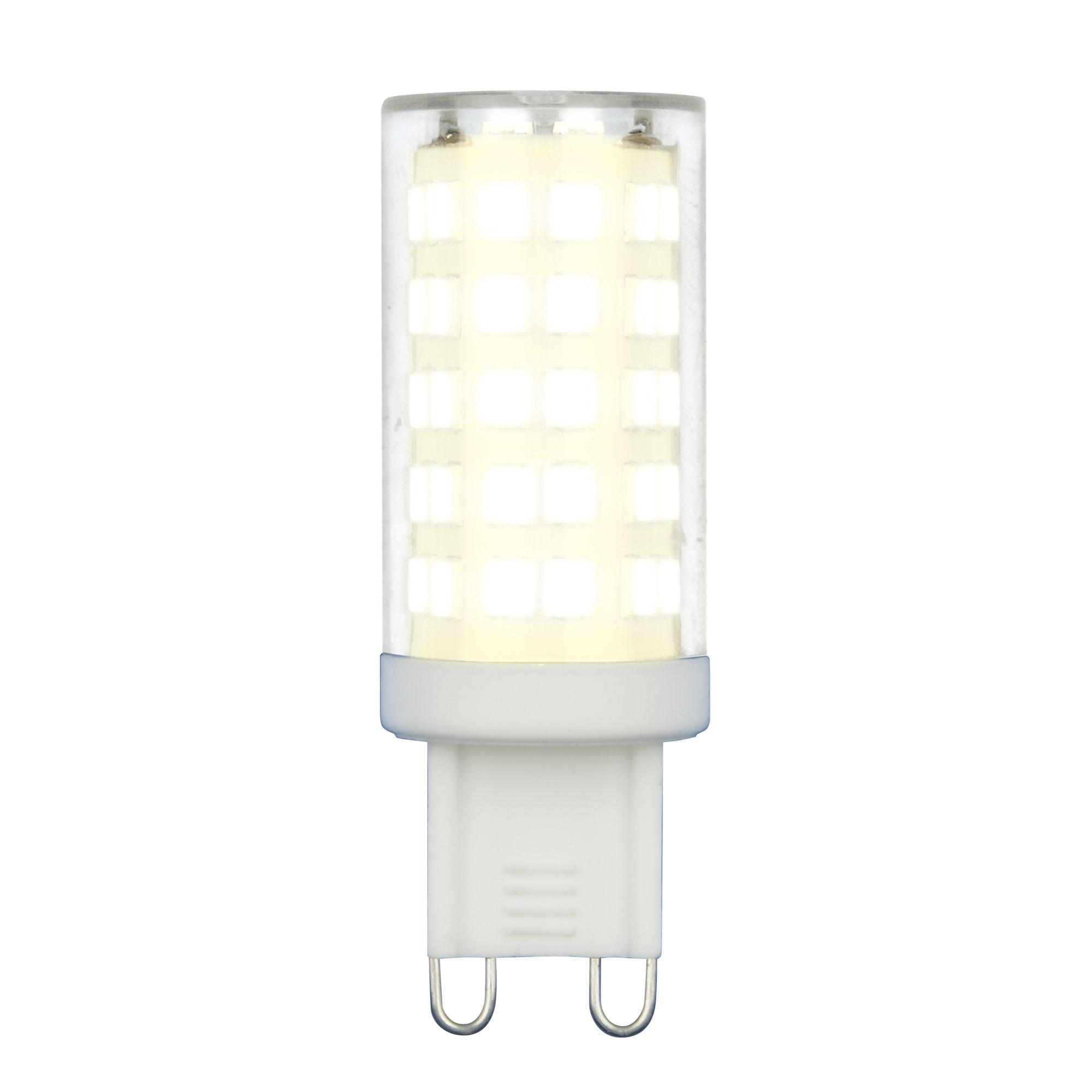 Лампа светодиодная G9 9 Вт капсула прозрачная 720 лм белый свет