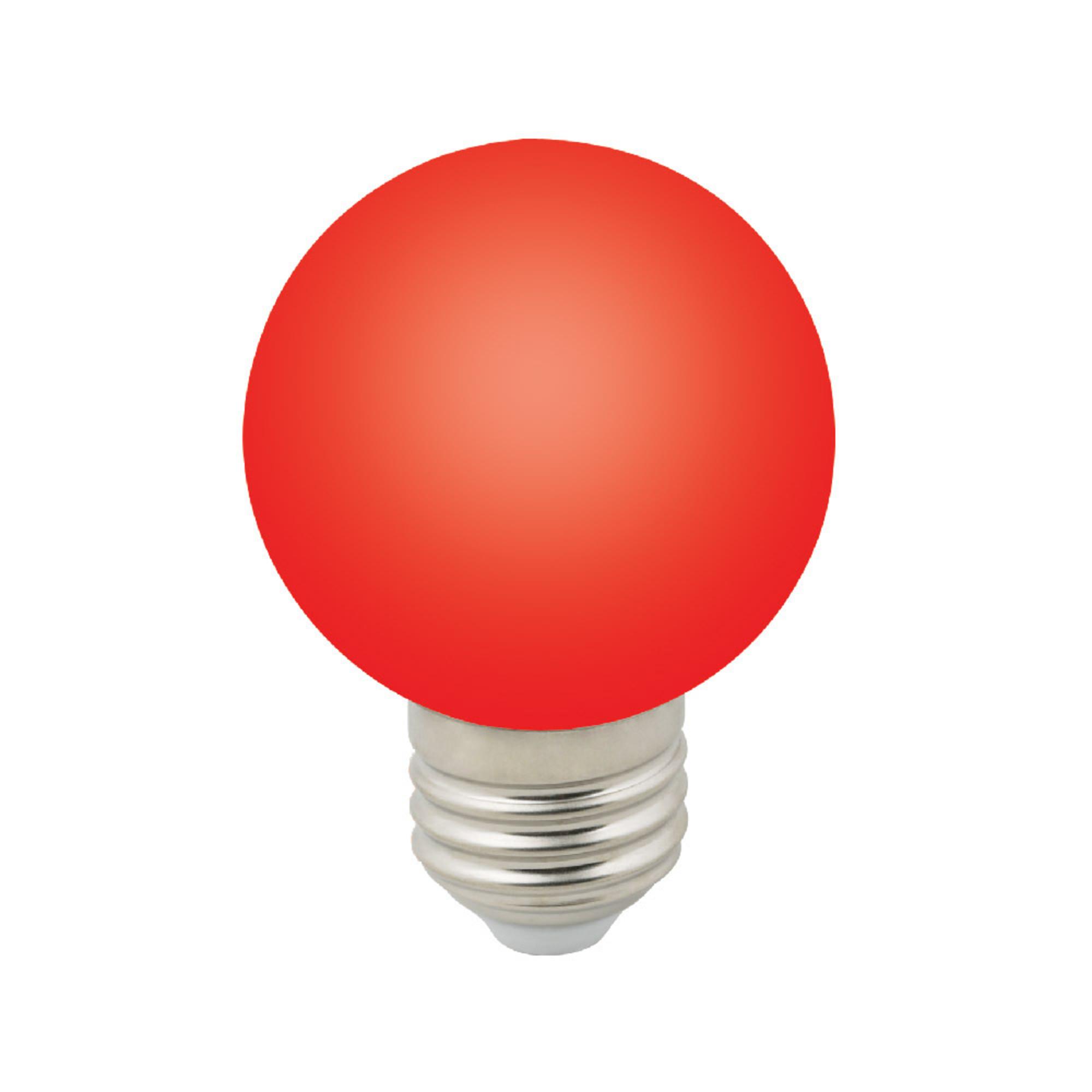 Лампа светодиодная E27 3 Вт шар красный 240 лм красный свет