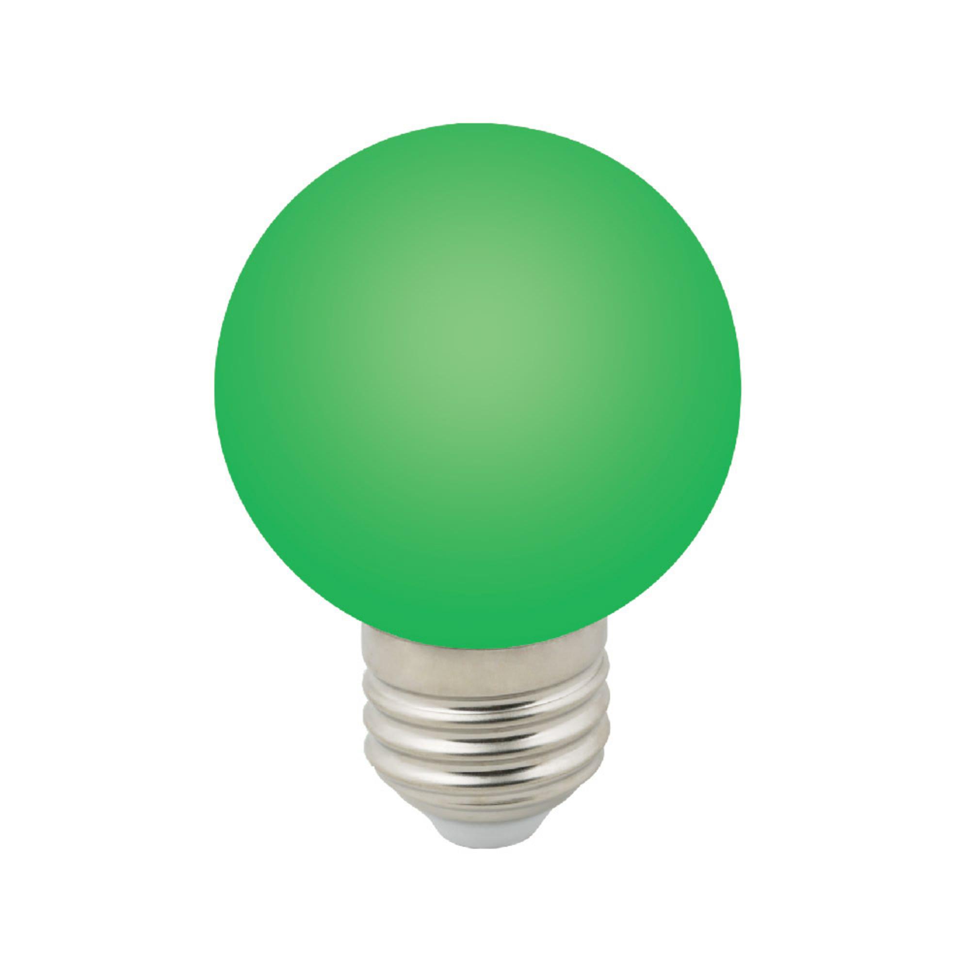 Лампа светодиодная E27 3 Вт шар зелёный 240 лм зелёный свет