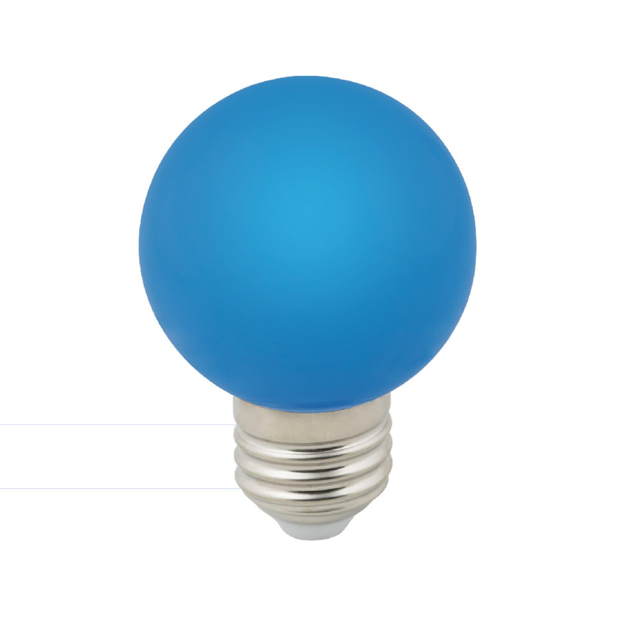 Лампа светодиодная E27 3 Вт шар синий 240 лм синий свет