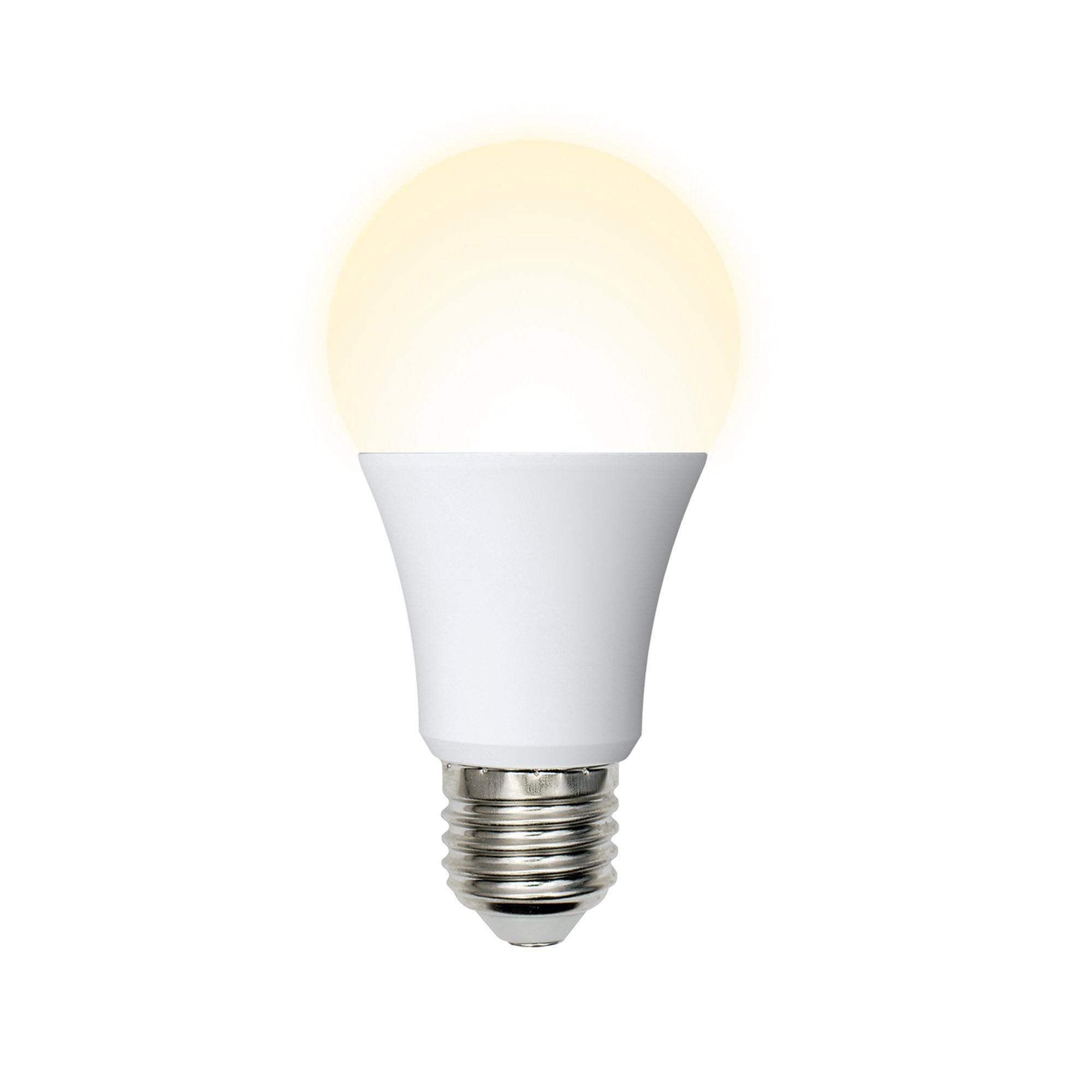 Лампа светодиодная Volpe Norma E27 230 В 9 Вт груша матовая 720 лм тёплый белый свет