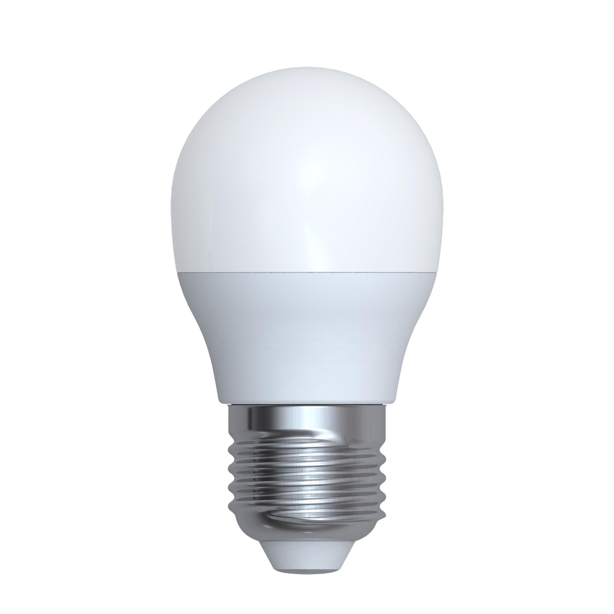 Лампа светодиодная Uniel G45 175-250 В 6 Вт шар матовый 480 лм холодный белый свет
