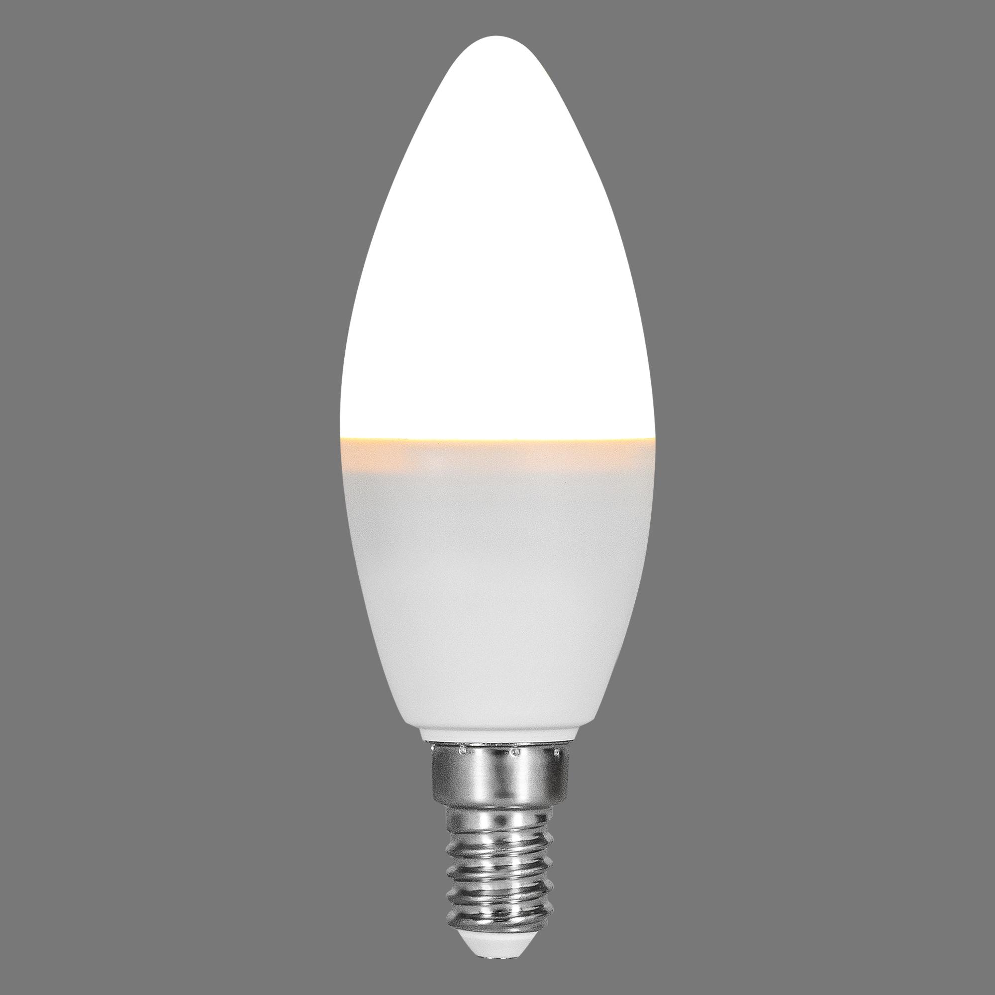 Лампа светодиодная Osram E14 220-240 В 5.5 Вт свеча матовая 470 лм регулируемый цвет света RGBW для диммера