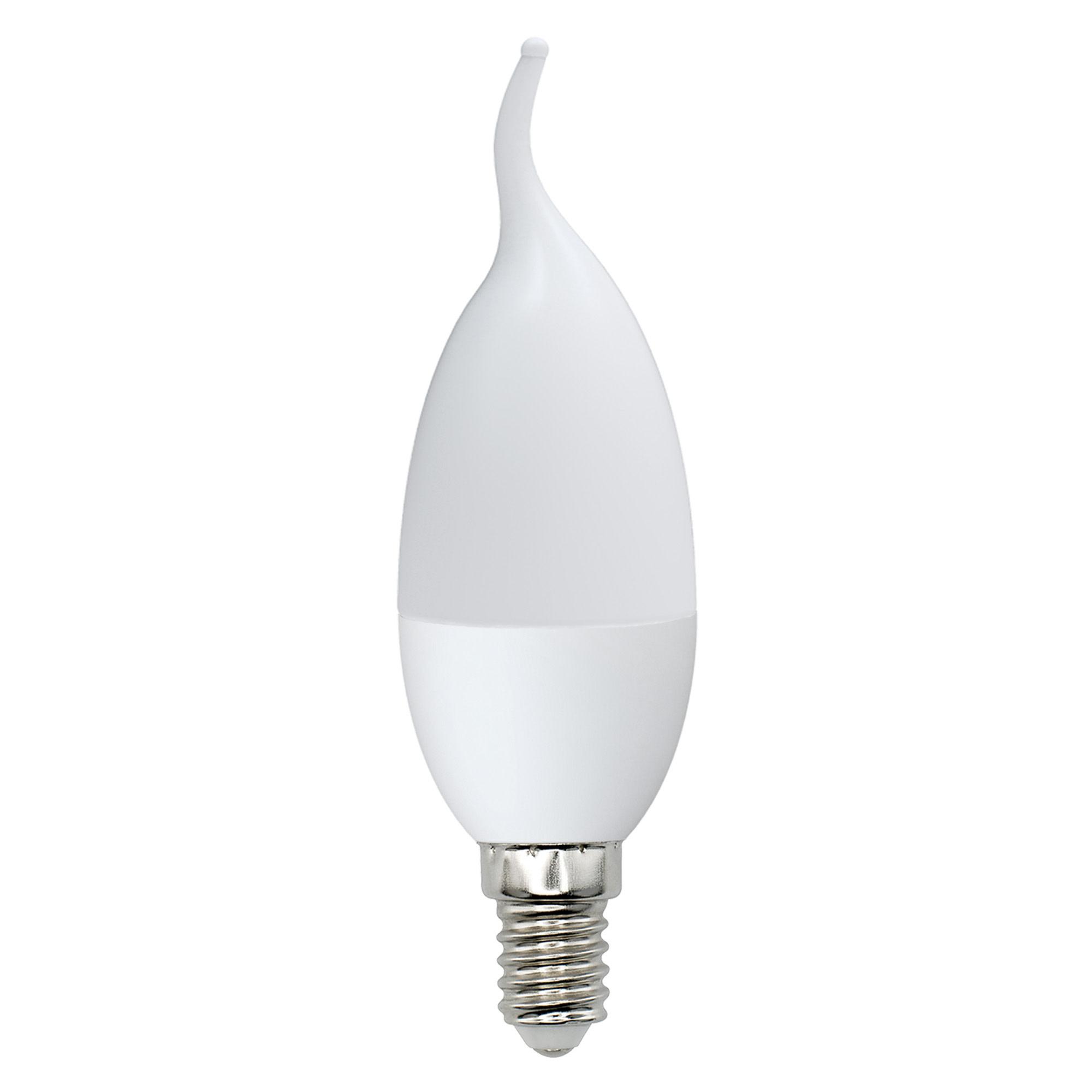 Лампа светодиодная Norma E14 220 В 7 Вт свеча на ветру матовая 600 лм тёплый белый свет
