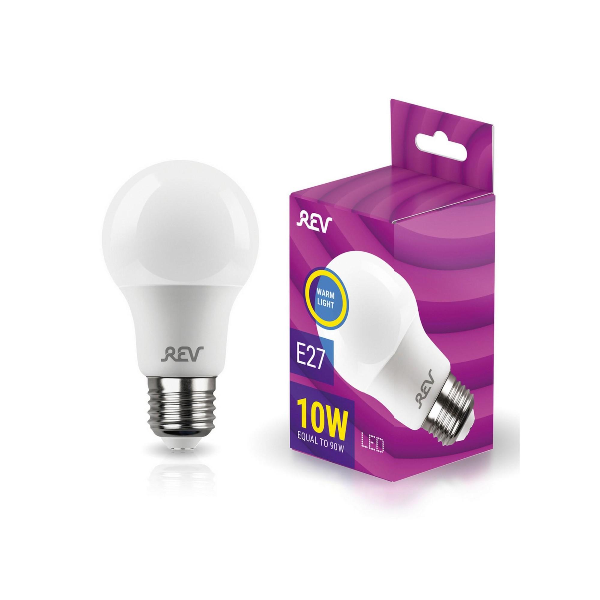 Лампа светодиодная (комплект 5 шт.) REV A60 Е27 10W 2700K 32266 5