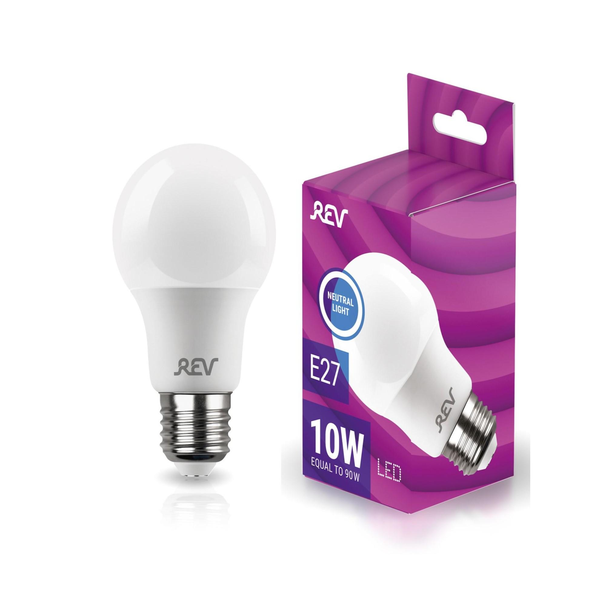 Лампа светодиодная (комплект 5 шт.) REV A60 Е27 10W 4000K 32267 2