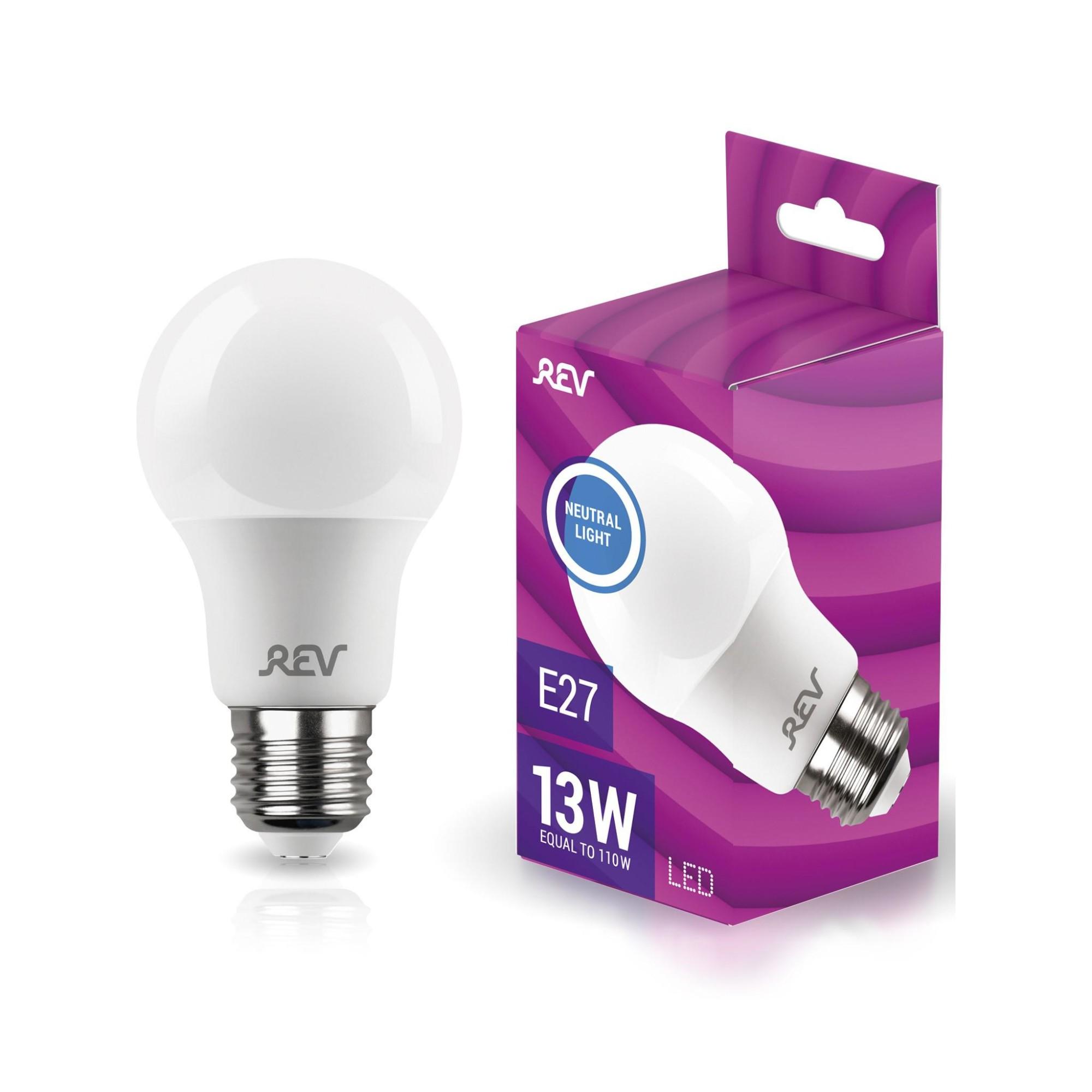 Лампа светодиодная (комплект 5 шт.) REV A60 Е27 13W 4000K 32268 9