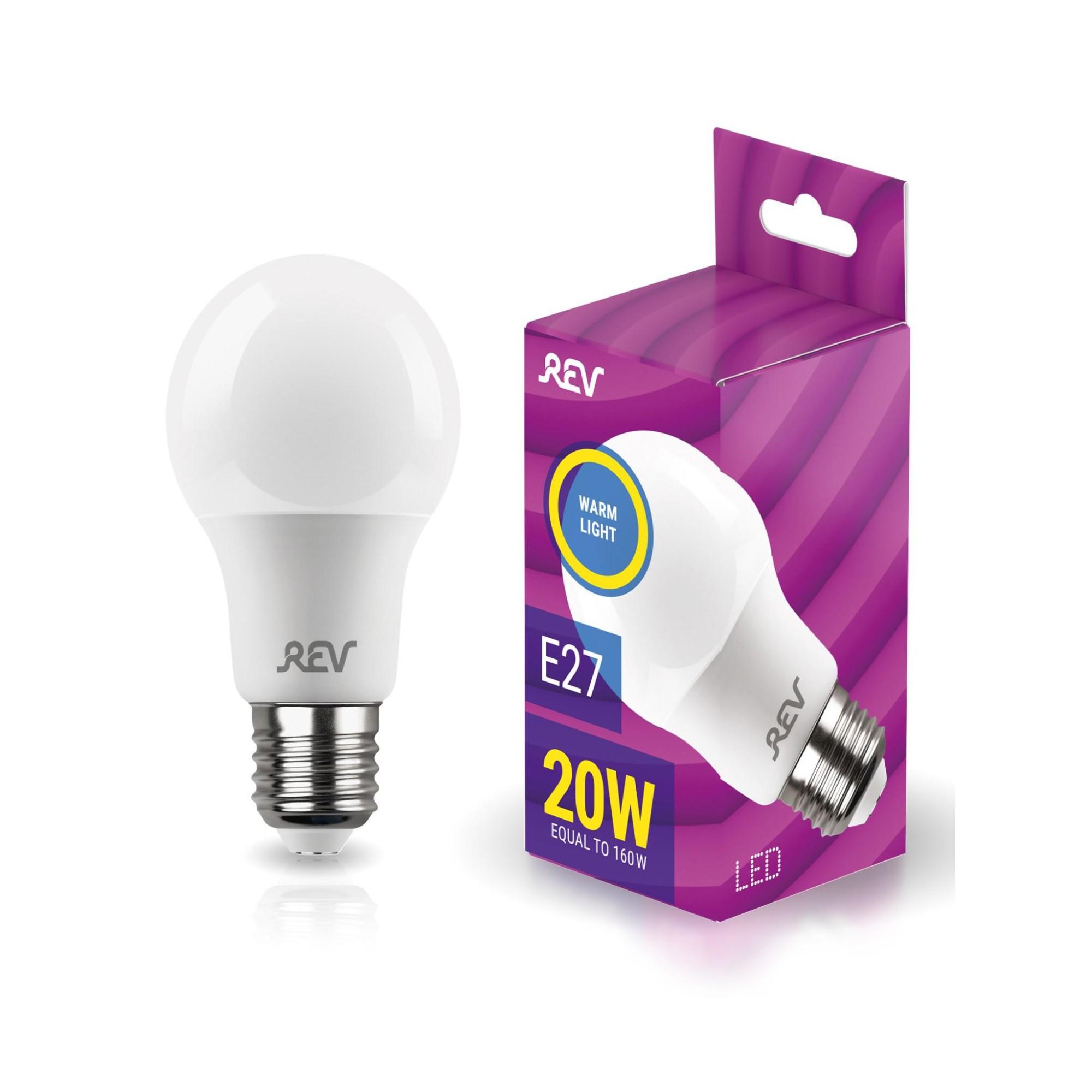Лампа светодиодная (комплект 5 шт.) REV A60 Е27 20W 2700K 32404 1