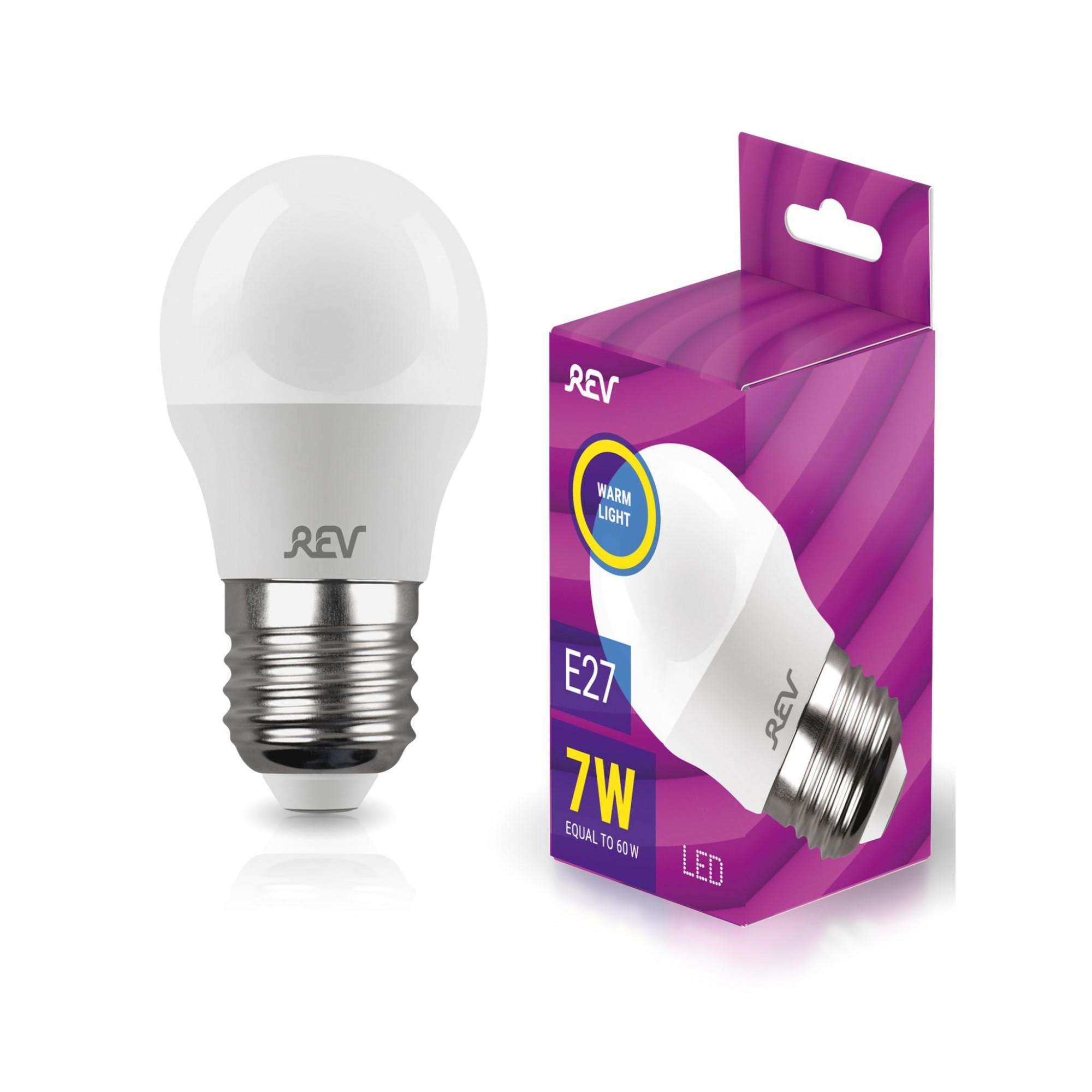 Лампа светодиодная (комплект 5 шт.) REV G45 Е27 7W 2700K 32342 6
