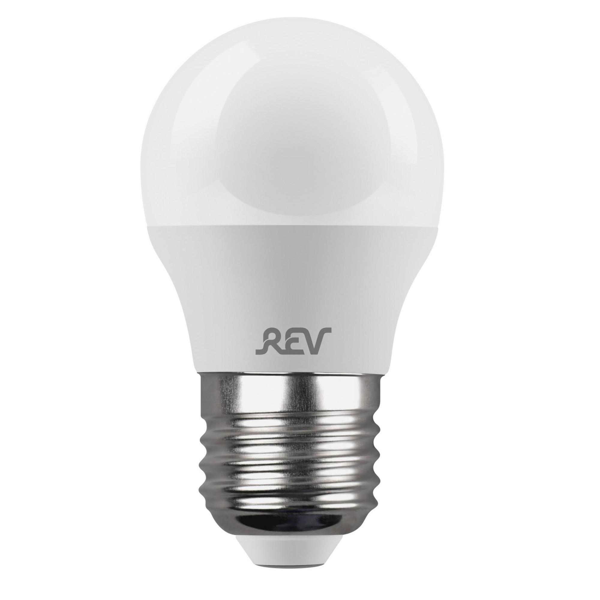 Лампа светодиодная (комплект 5 шт.) REV G45 Е27 9W 4000K 32409 6