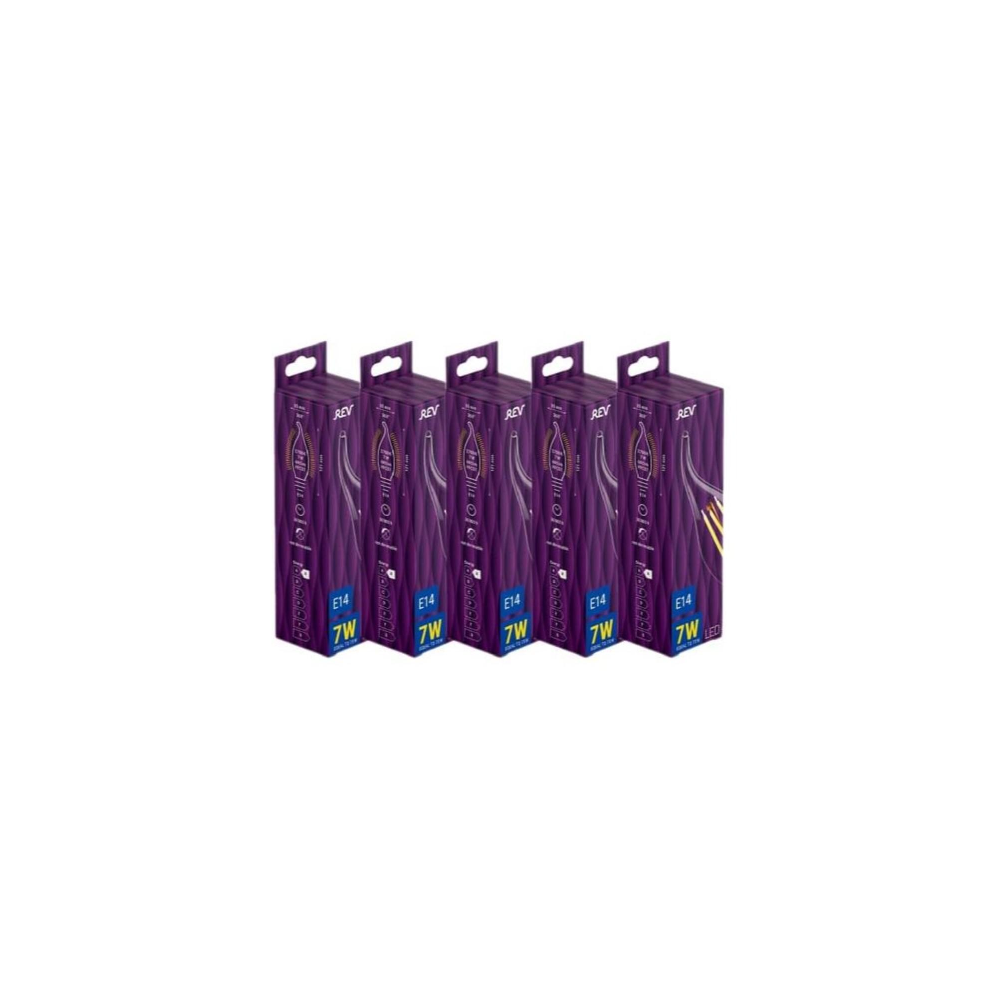 Лампа светодиодная (комплект 5 шт.) REV FILAMENT FC37 E14 7W 2700K DECO Premium 32432 4
