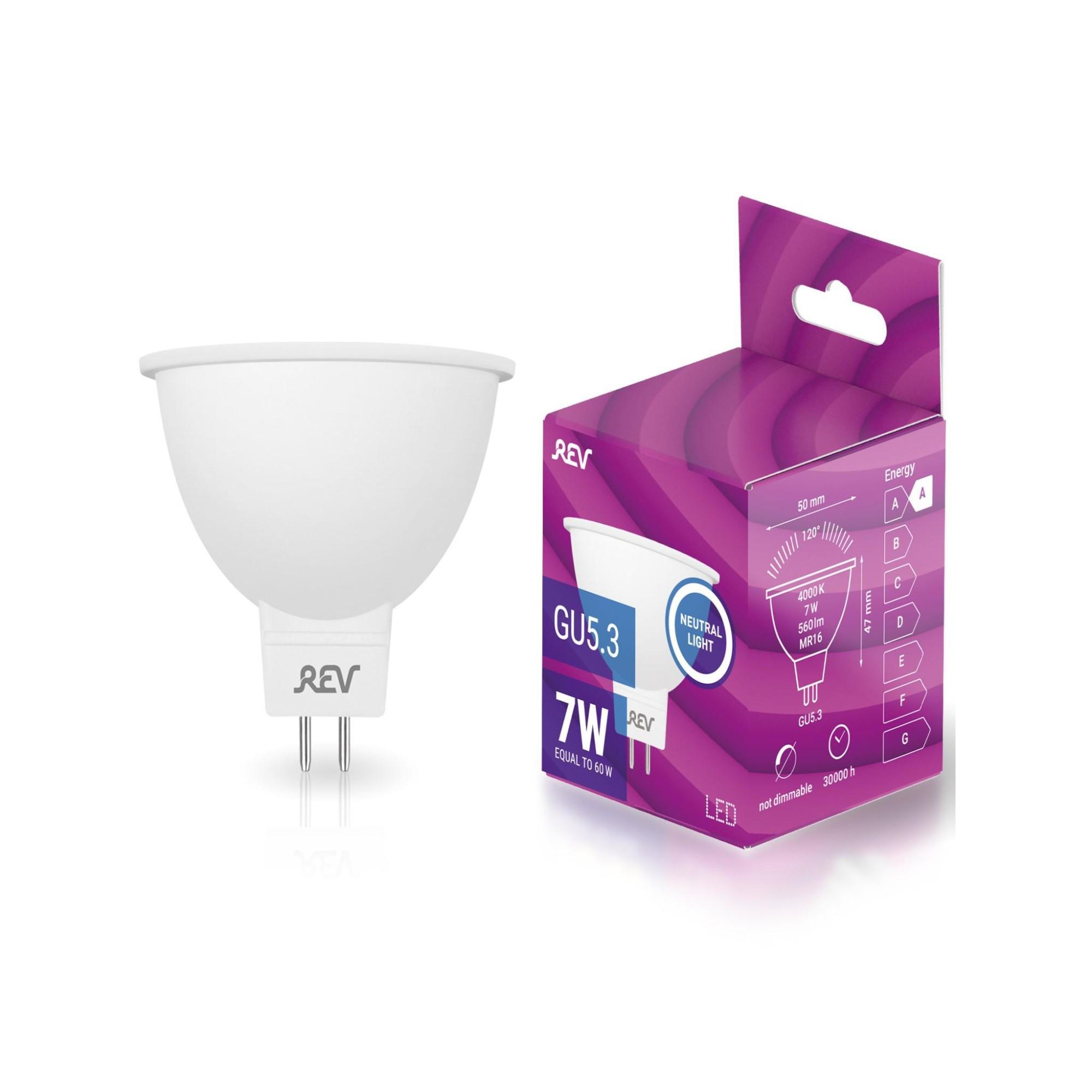 Лампа REV светодиодная GU5.3 7 Вт 560 Лм Нейтральный белый
