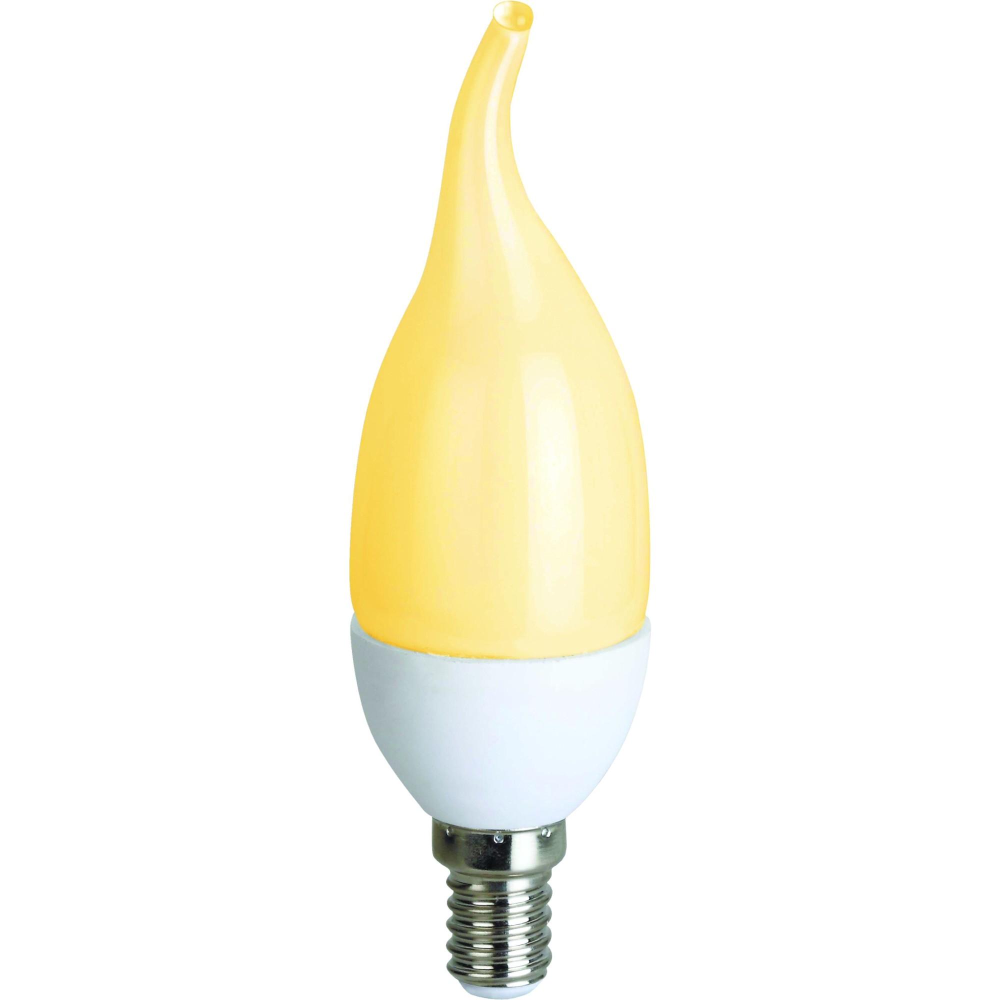 Лампа Ecola стандарт светодионая E14 7 Вт свеча на ветру 560 Лм теплый свет