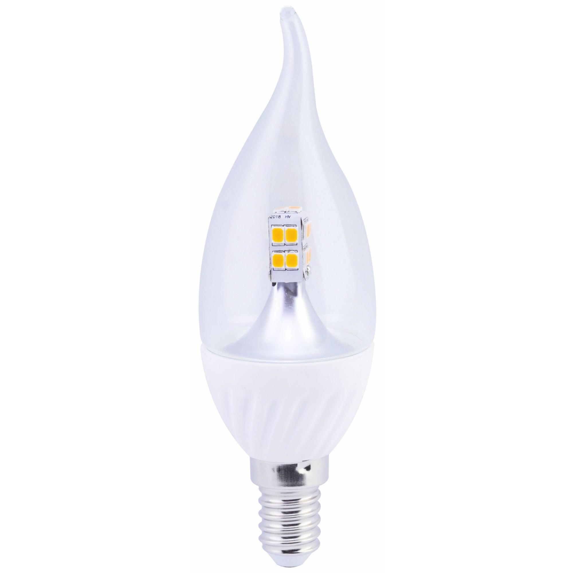 Лампа Ecola стандарт светодионая E14 4 Вт свеча на ветру 320 Лм теплый свет