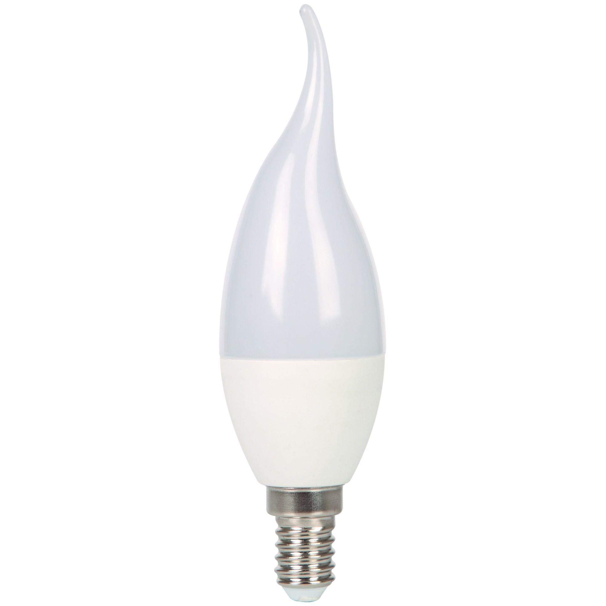 Лампа Ecola стандарт светодионая E14 6 Вт свеча на ветру 480 Лм теплый свет