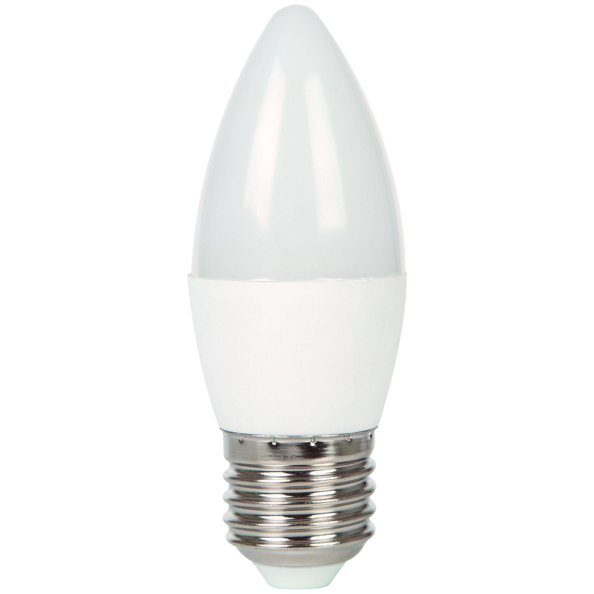Лампа Ecola стандарт светодионая E27 7 Вт свеча 560 Лм холодный свет