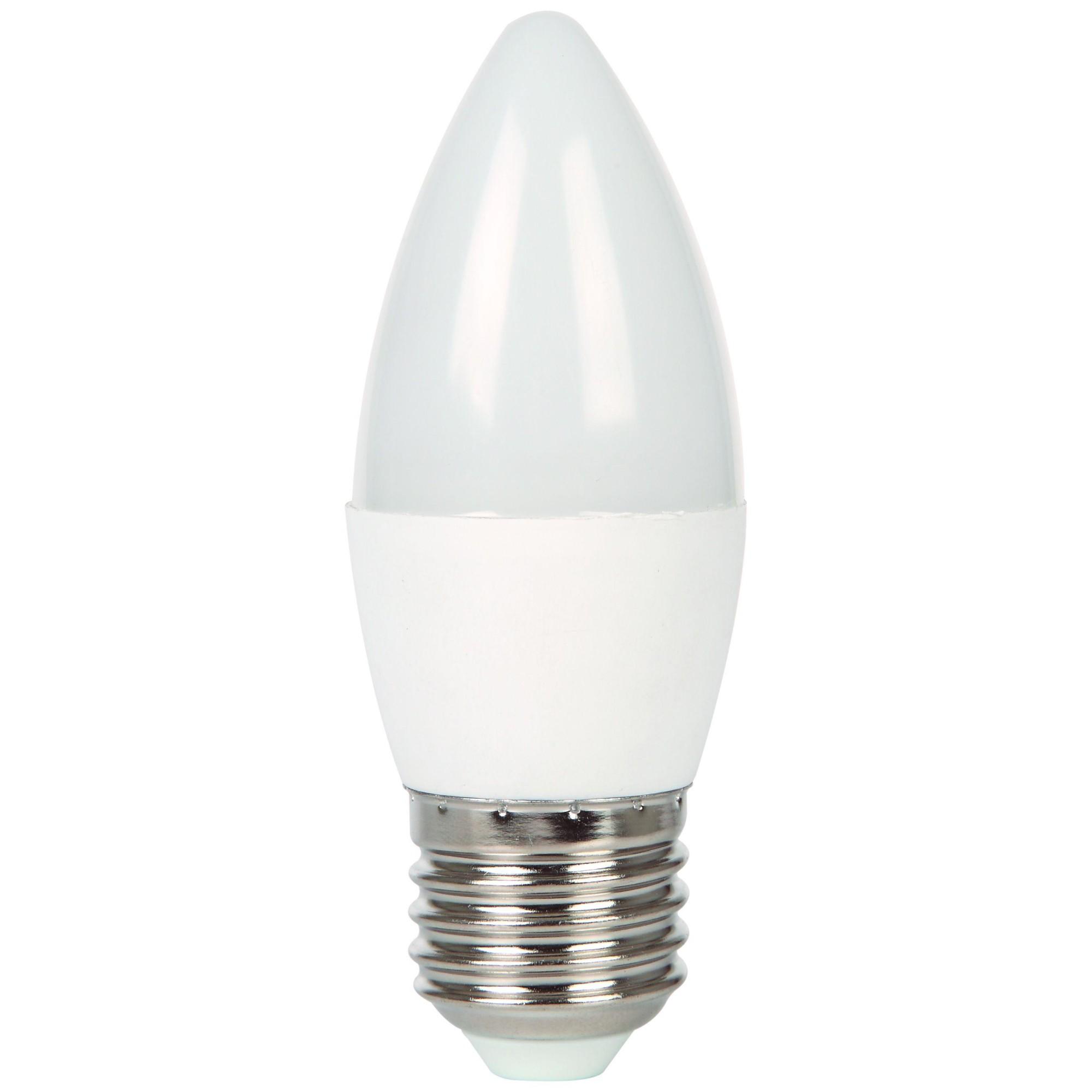 Лампа Ecola стандарт светодионая E27 7 Вт свеча 560 Лм теплый свет