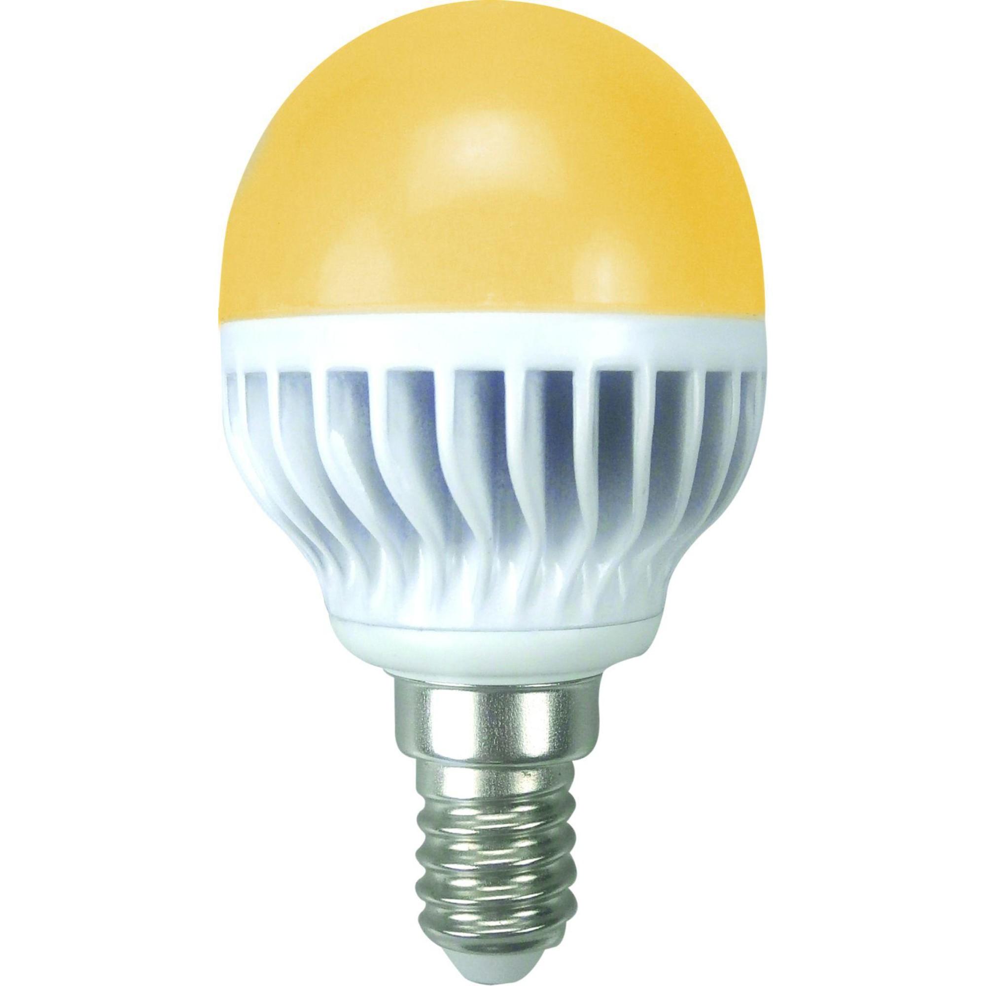 Лампа Ecola стандарт светодионая E14 5.40 Вт шар 370 Лм теплый свет