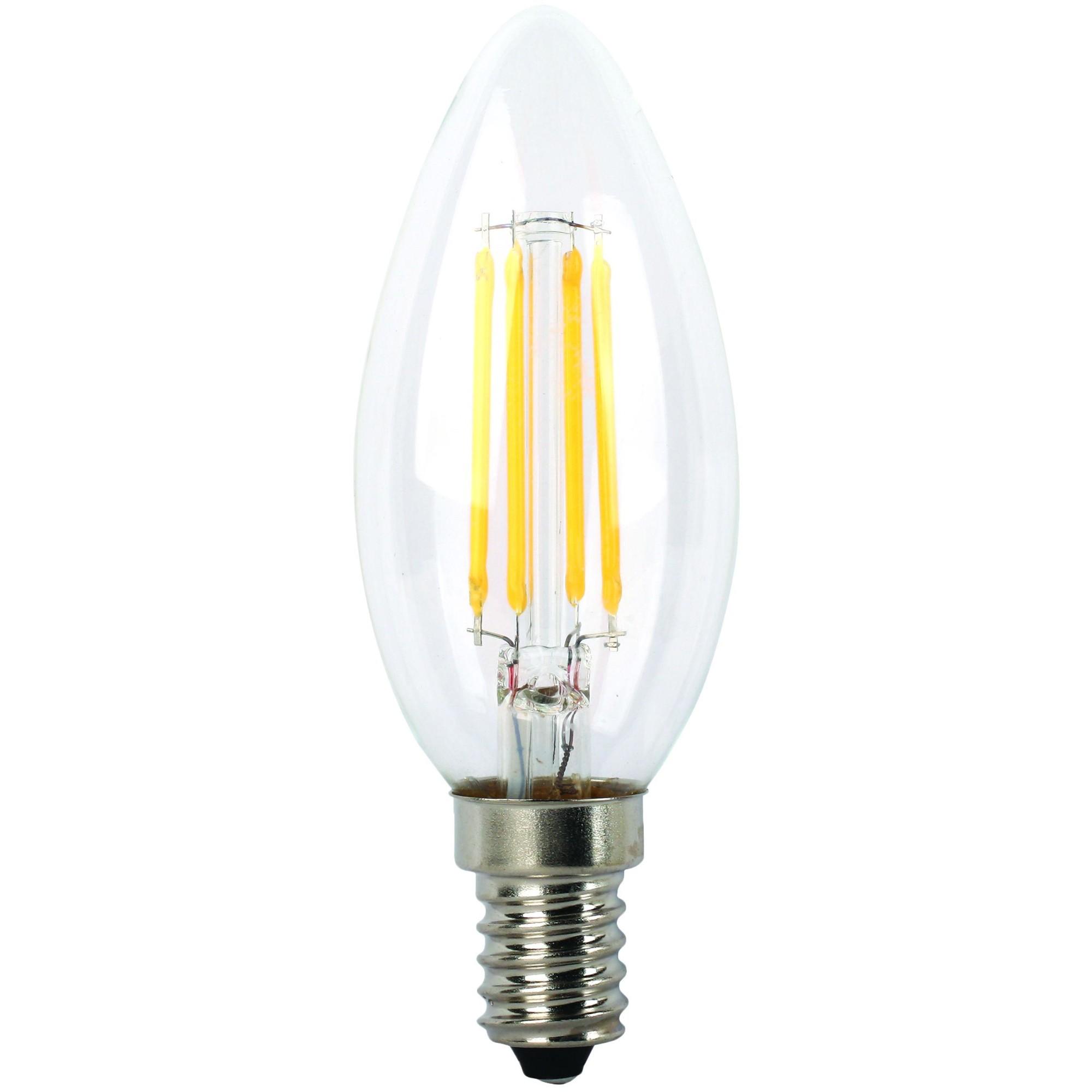 Лампа Ecola Premium светодионая E14 5 Вт свеча 500 Лм теплый свет