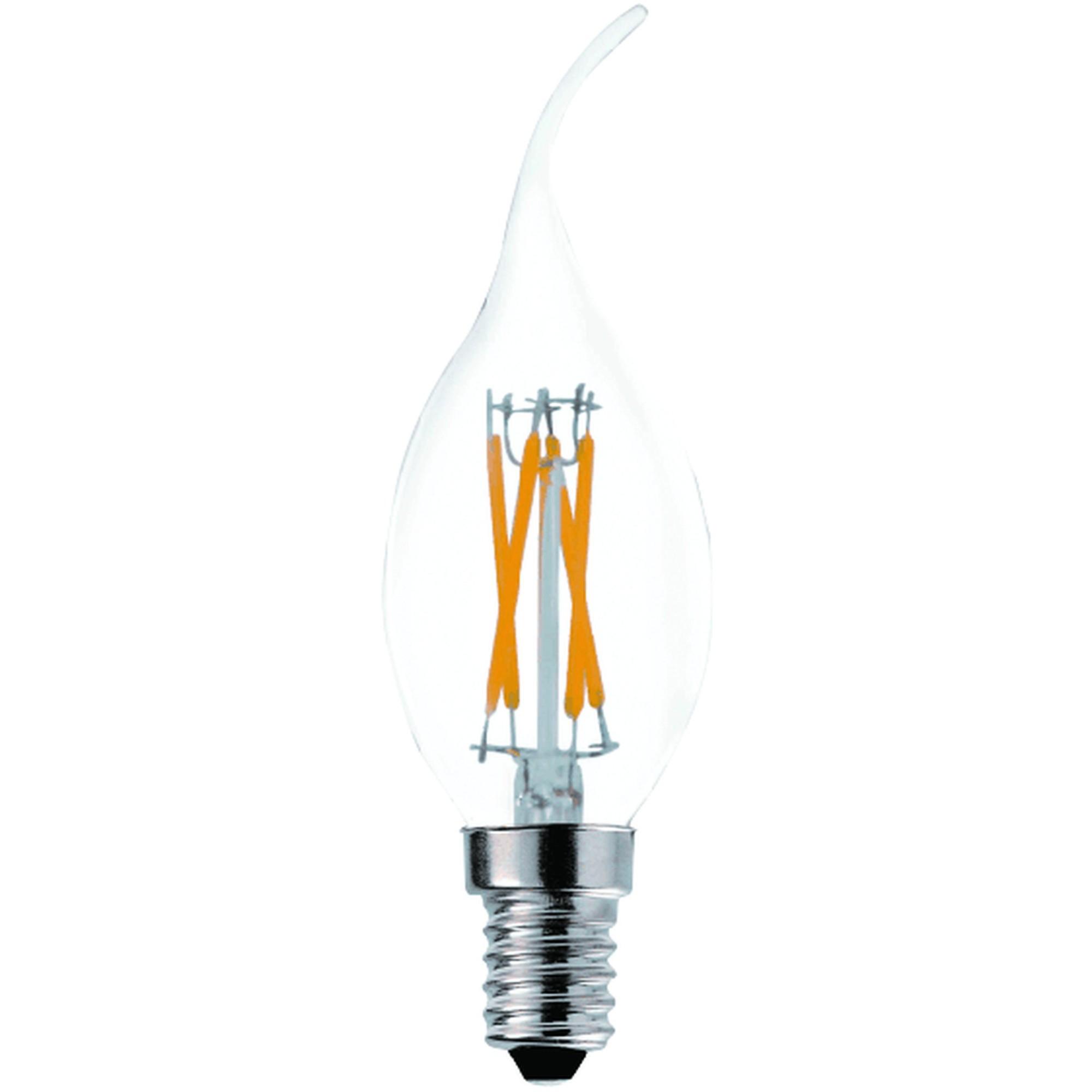 Лампа Ecola Premium светодионая E14 5 Вт свеча на ветру 500 Лм теплый свет