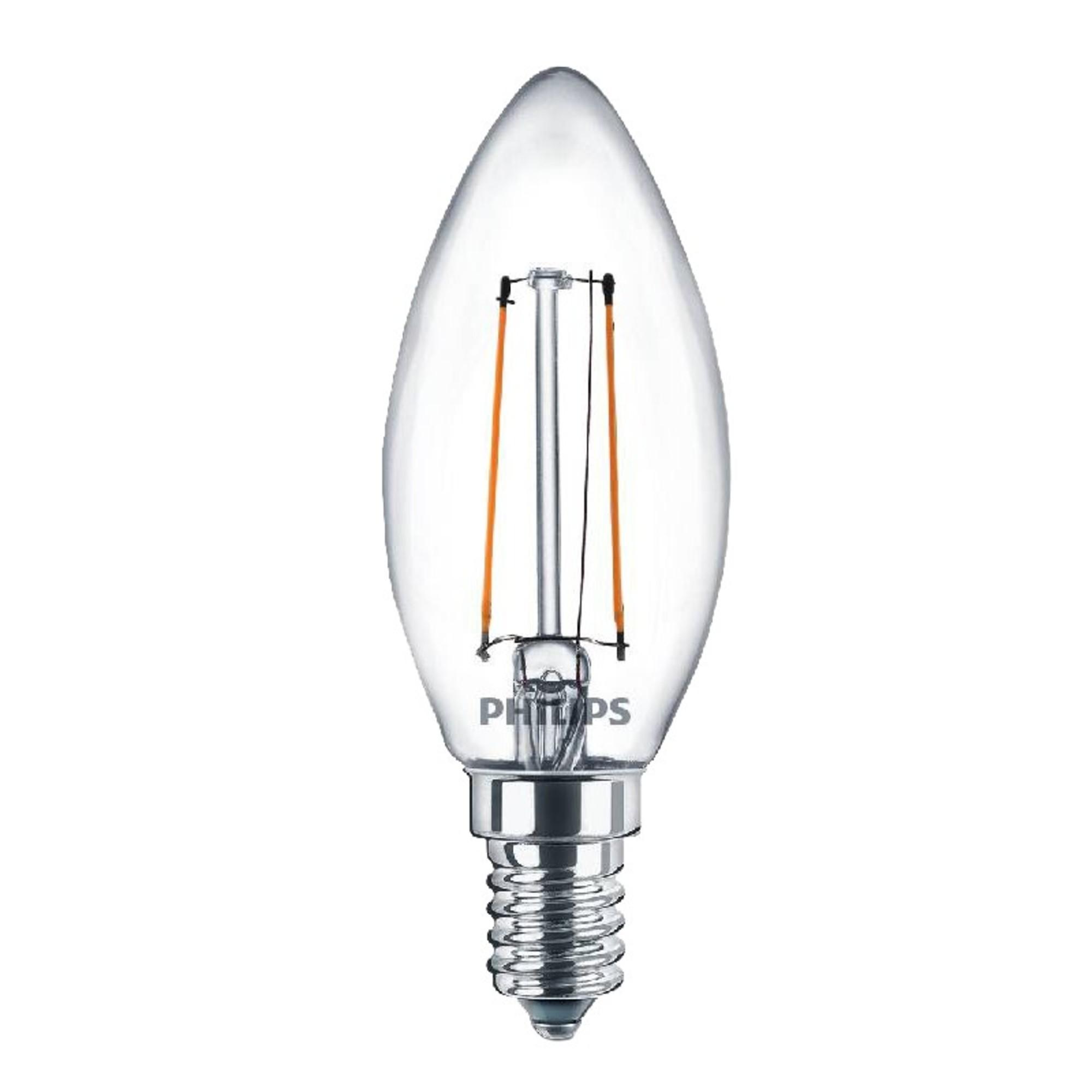 Лампа Philips светодионая E14 4 Вт свеча 400 Лм теплый свет для диммера