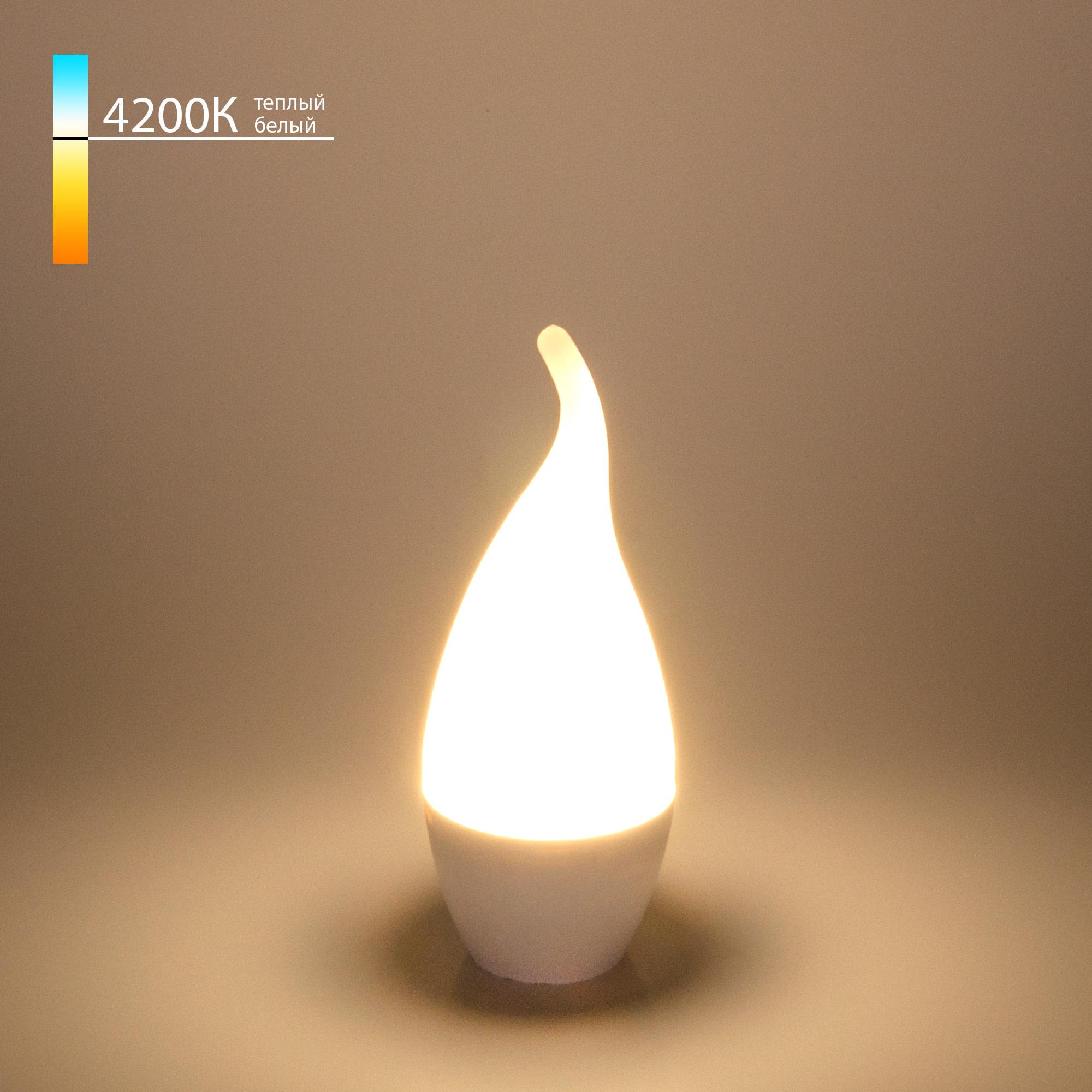 Лампа Electrostandard Свеча на ветру СDW LED D светодионая E14 6 Вт свеча на ветру 510 Лм нейтральный свет