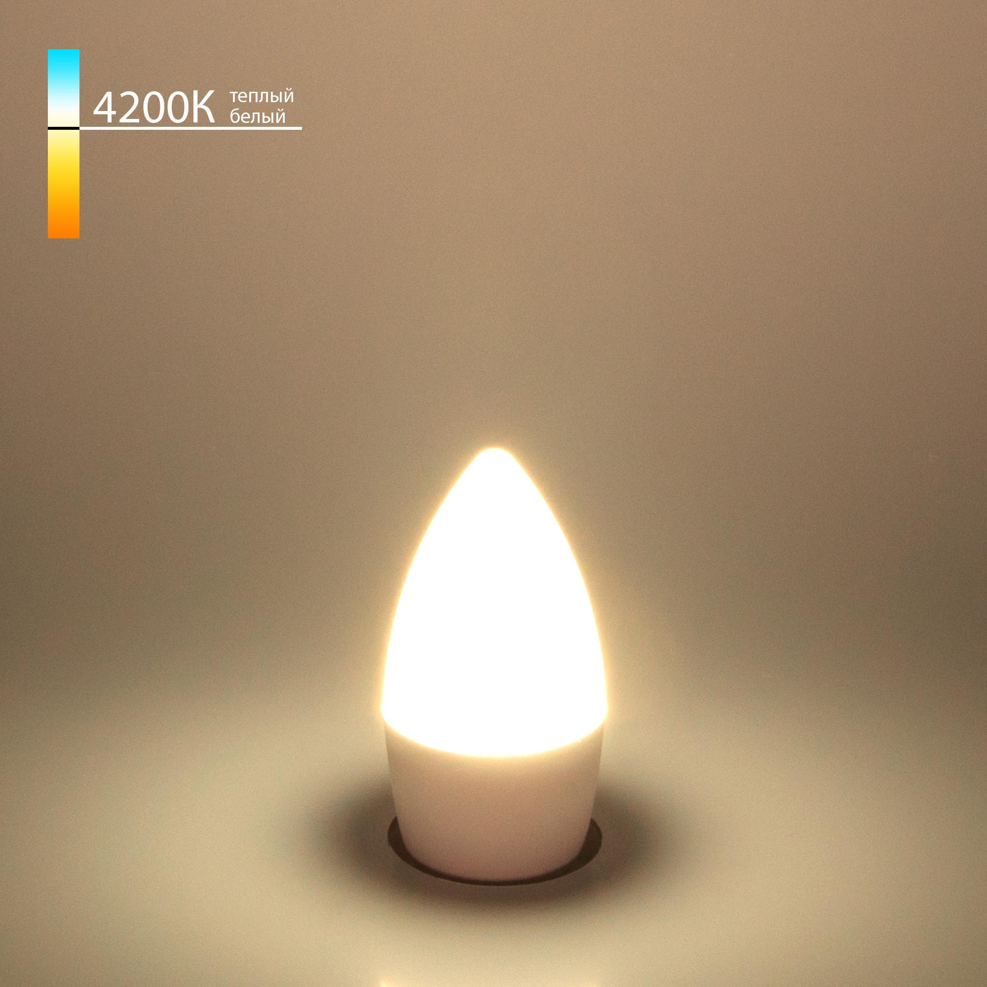 Лампа Electrostandard Свеча СD LED светодионая E27 6 Вт свеча 520 Лм нейтральный свет