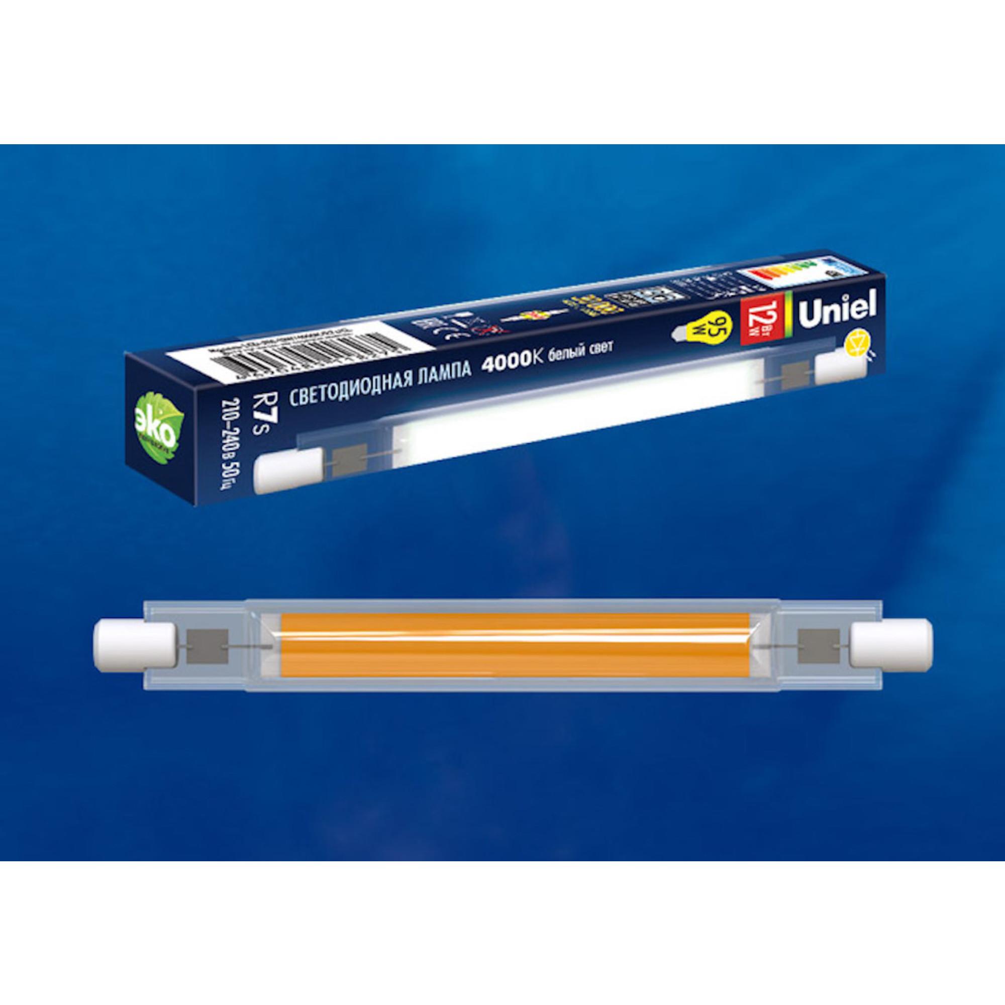 Лампа Volpe светодиодная R7s 12 Вт белый свет