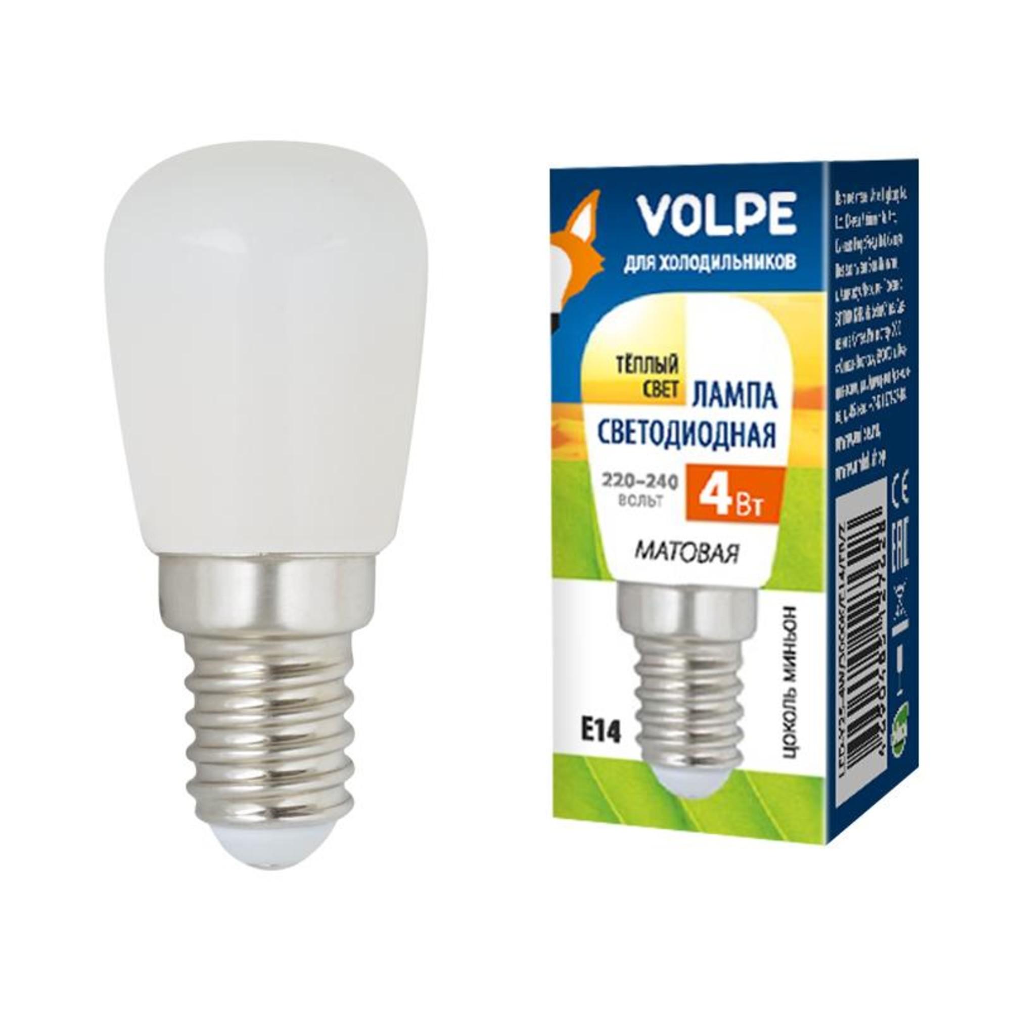 Лампа Volpe светодиодная E14 4 Вт теплый свет