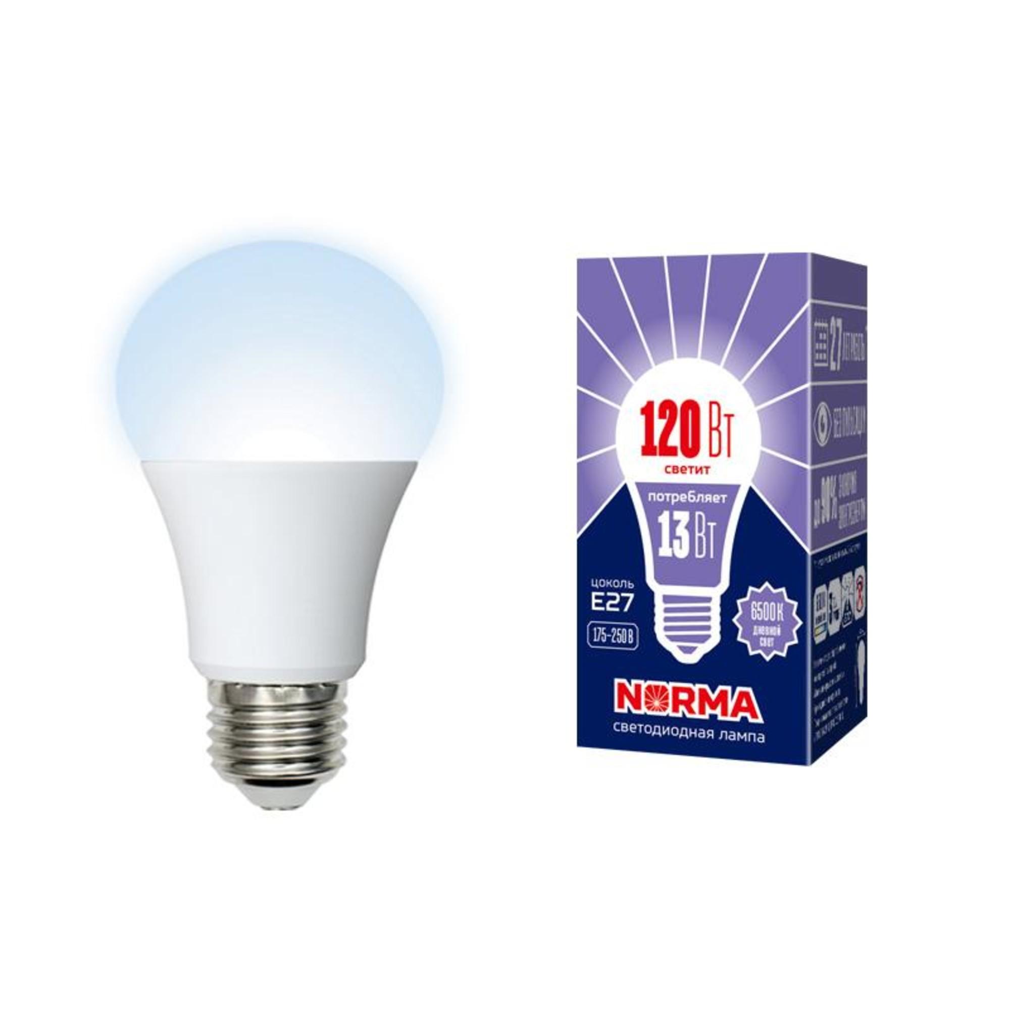 Лампа Volpe светодиодная E27 13 Вт нейтральный свет