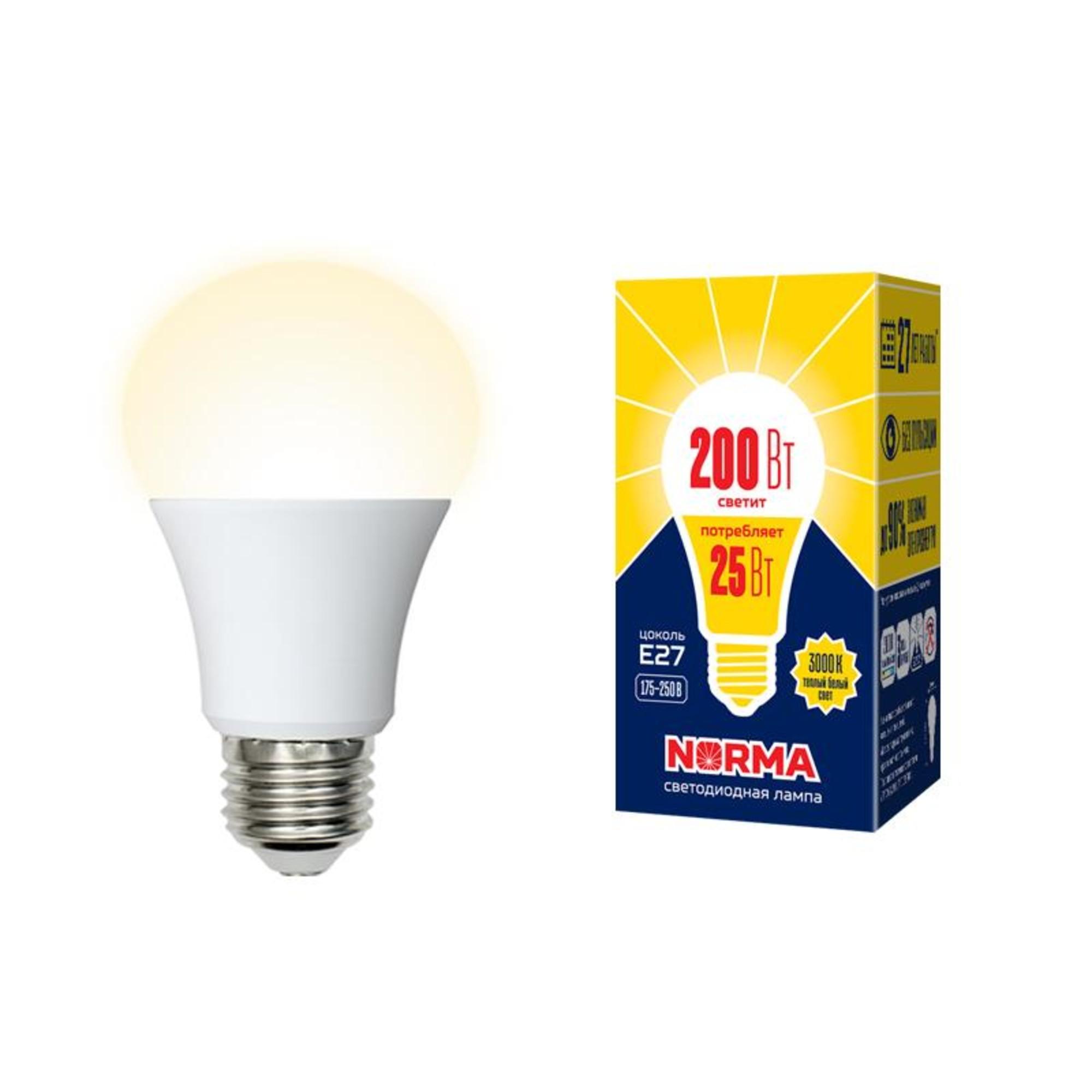 Лампа Volpe светодиодная E27 25 Вт теплый свет