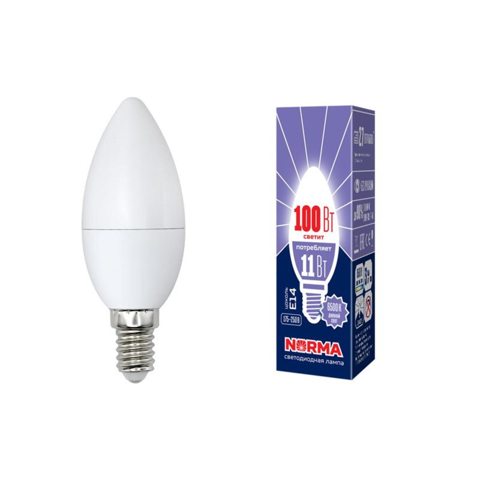 Лампа Volpe светодиодная E14 11 Вт нейтральный свет