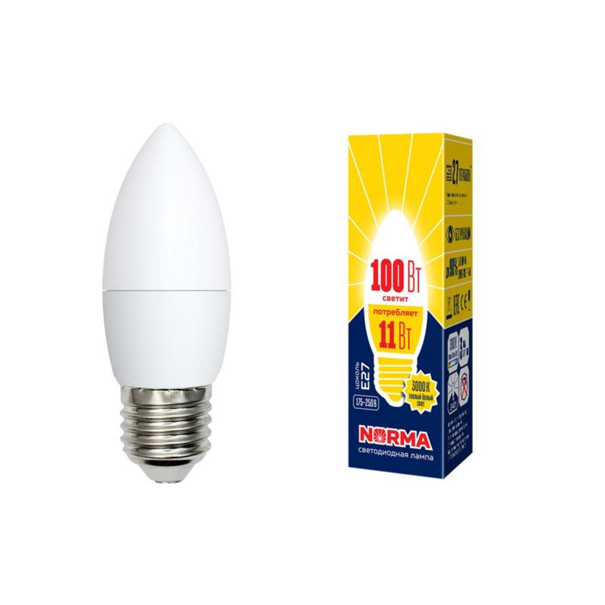 Лампа Volpe светодиодная E27 11 Вт теплый свет