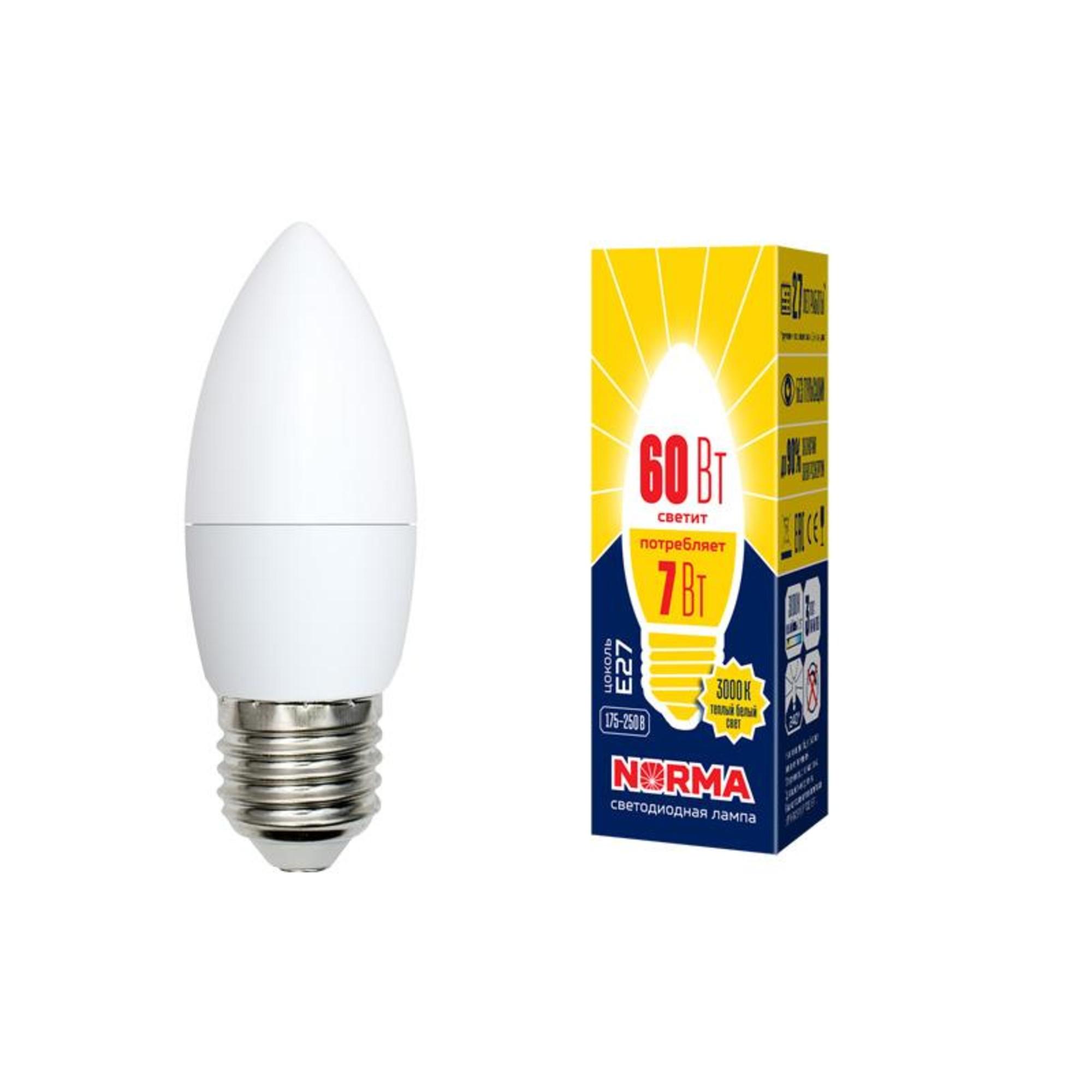 Лампа Volpe светодиодная E27 7 Вт теплый свет