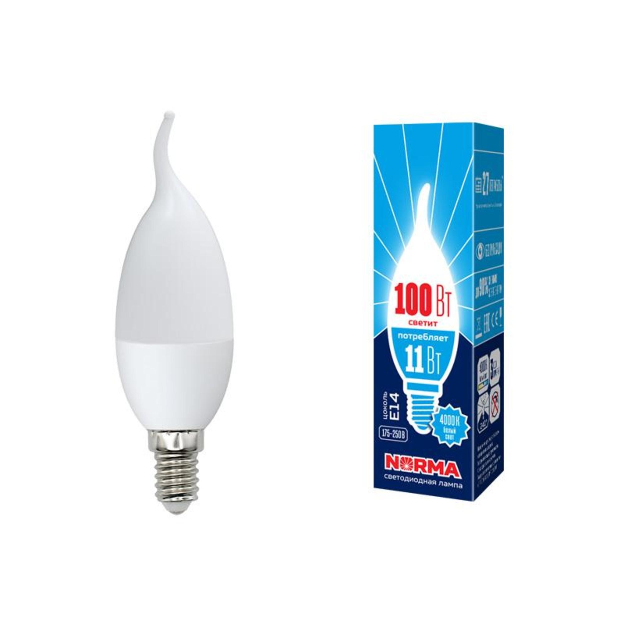Лампа Volpe светодиодная E14 11 Вт белый свет