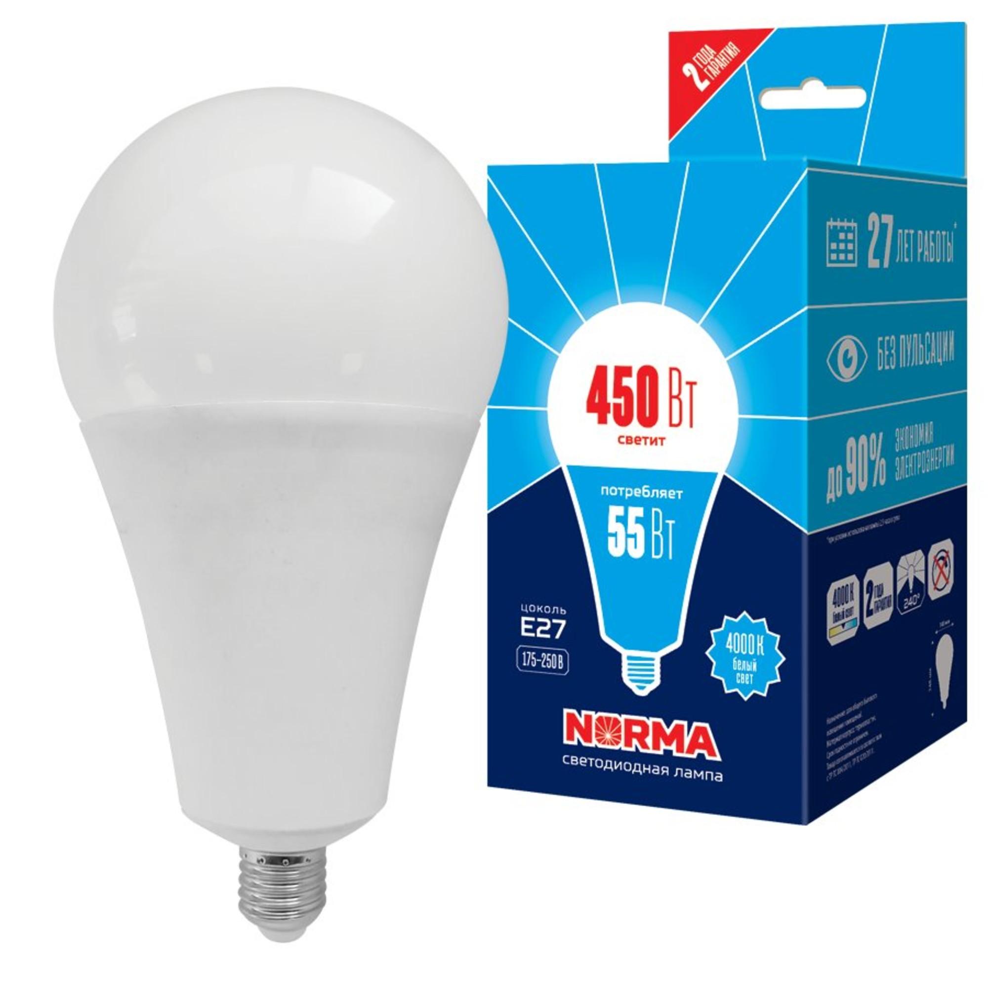 Лампа Volpe светодиодная E27 55 Вт белый свет