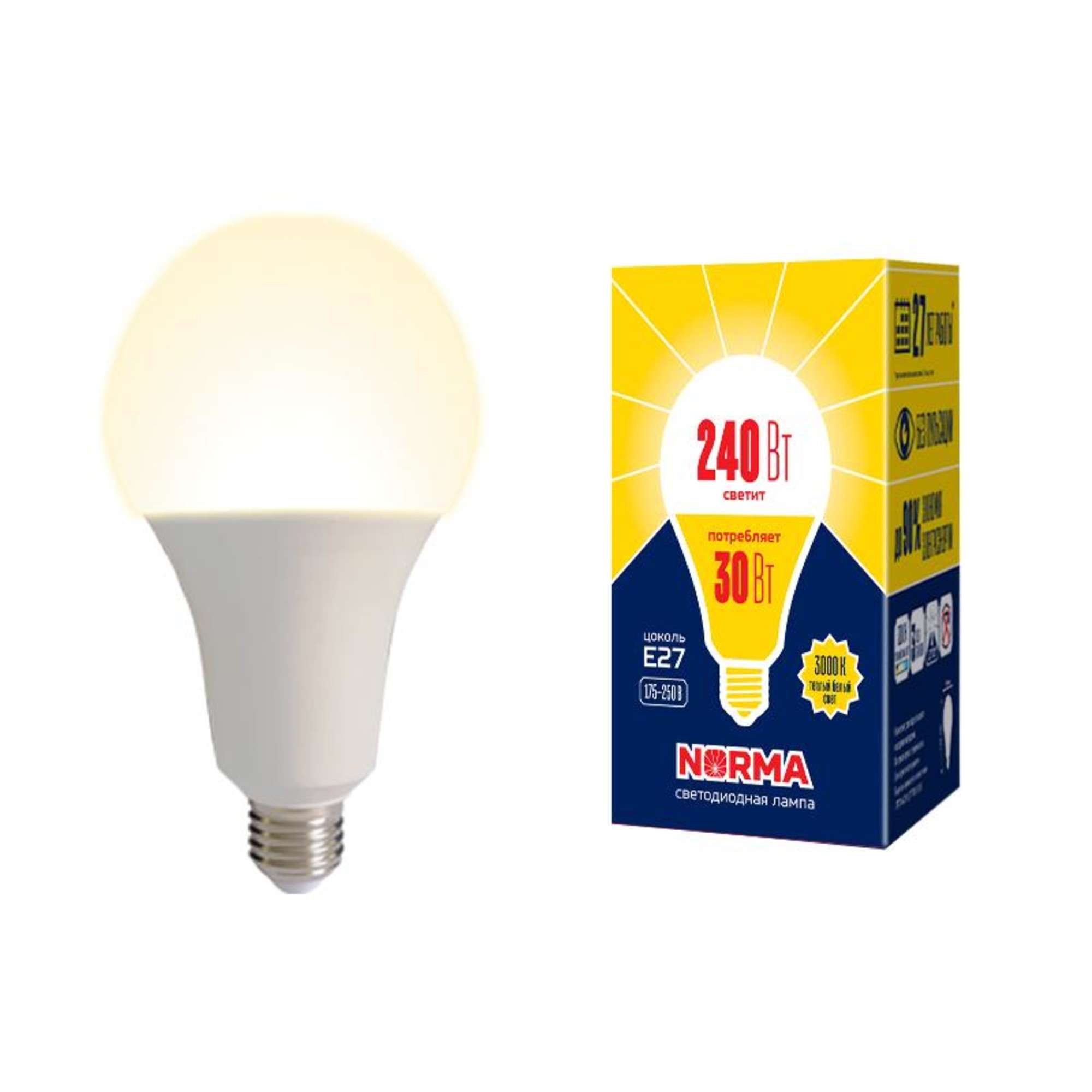 Лампа Volpe светодиодная E27 30 Вт теплый свет