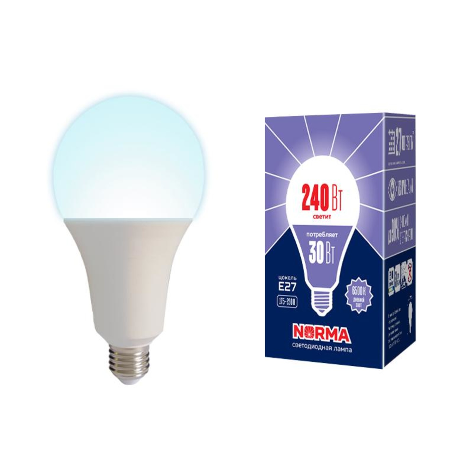 Лампа Volpe светодиодная E27 30 Вт нейтральный свет