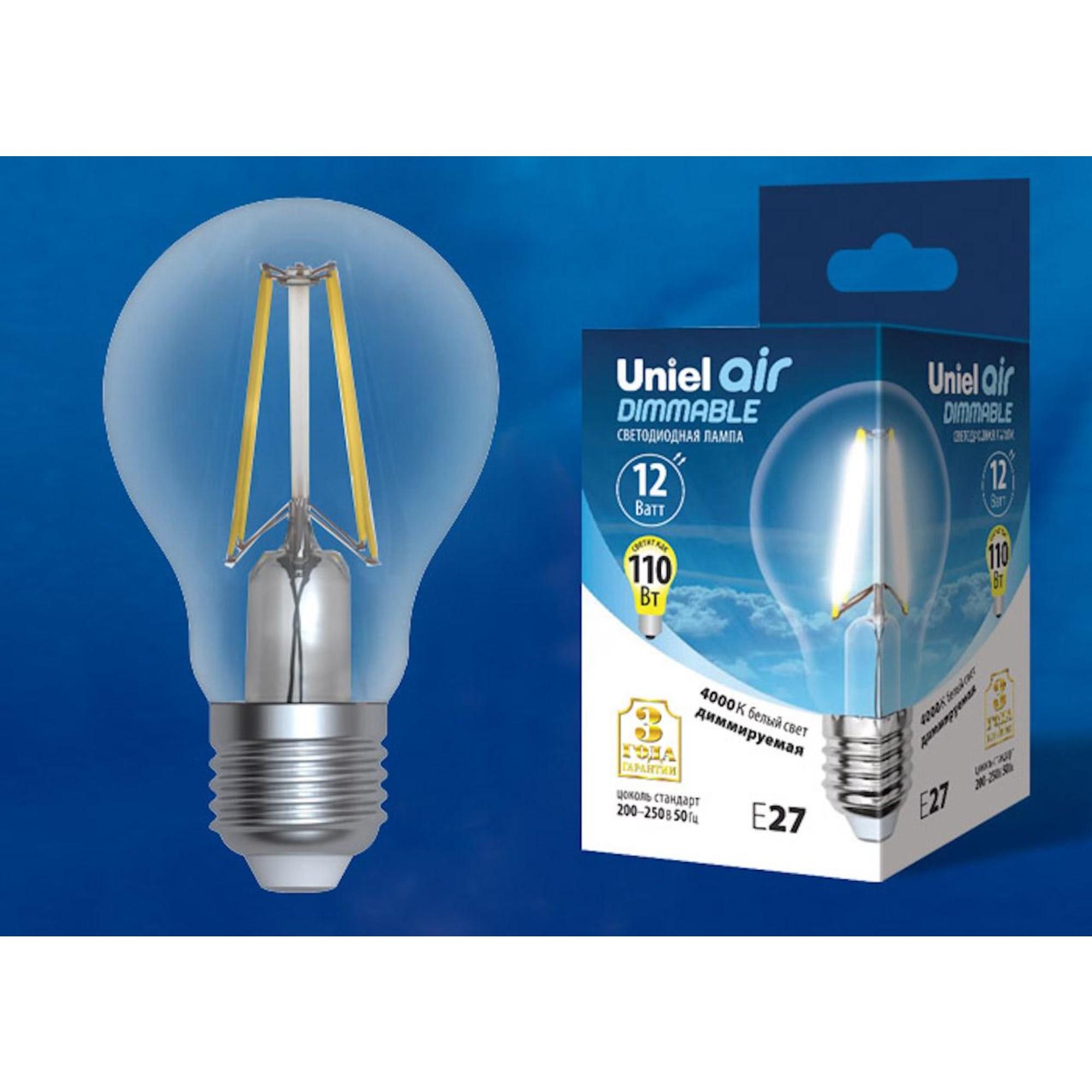 Светодиодная лампочка Uniel LED-A60-12W AIR DIMMABLE UL-00005184