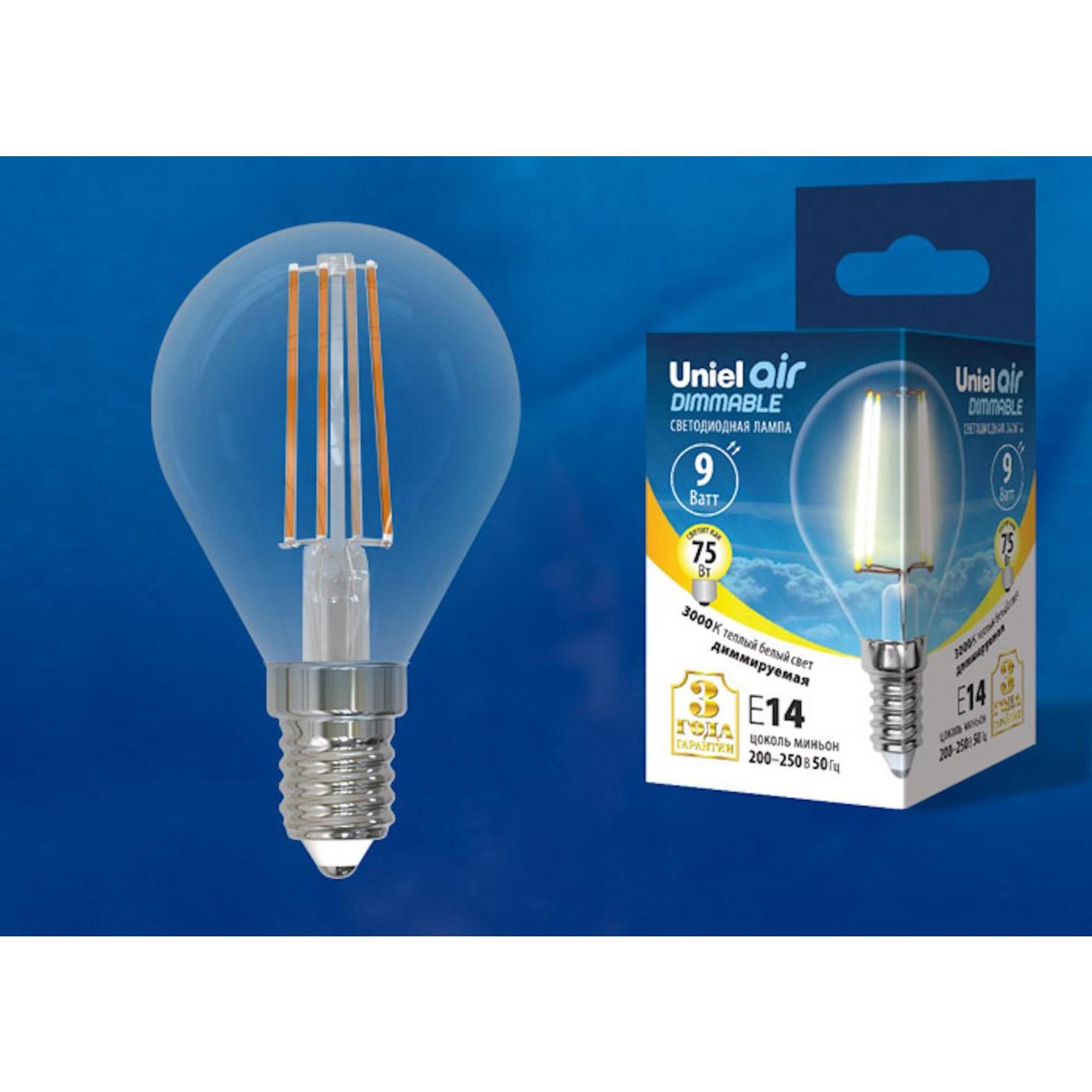 Светодиодная лампочка Uniel LED-G45-9W AIR DIMMABLE UL-00005191