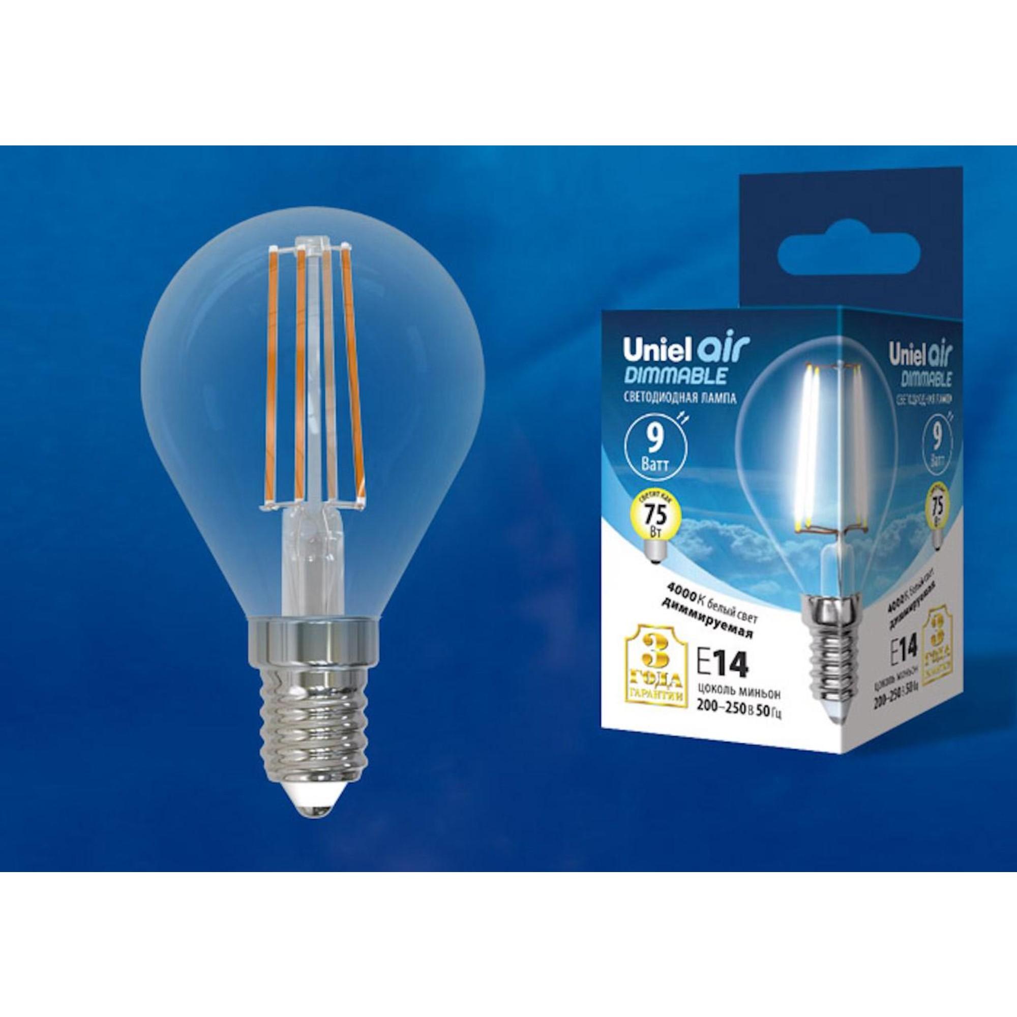 Светодиодная лампочка Uniel LED-G45-9W AIR DIMMABLE UL-00005192