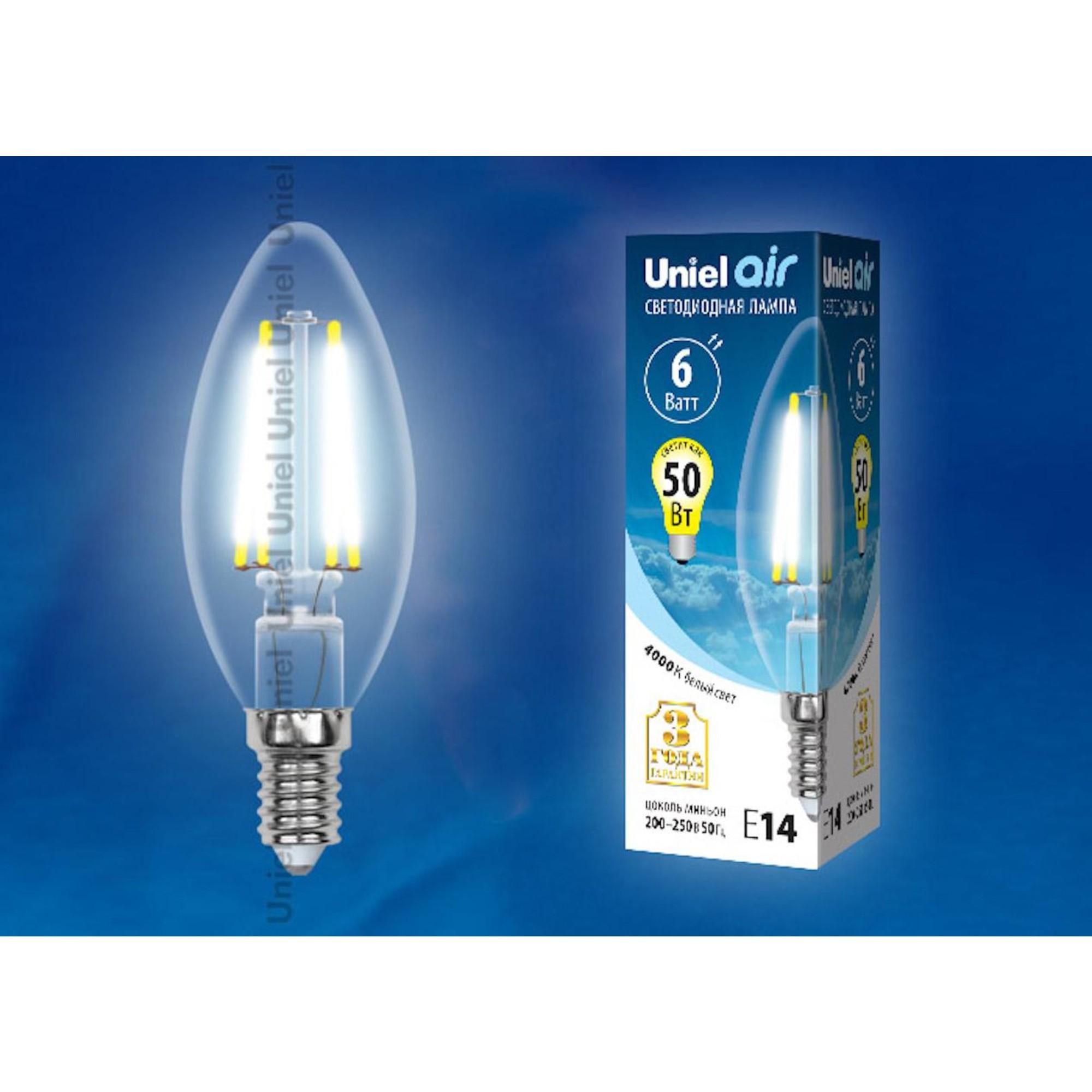 Светодиодная лампочка Uniel LED-C35-6W AIR UL-00002198