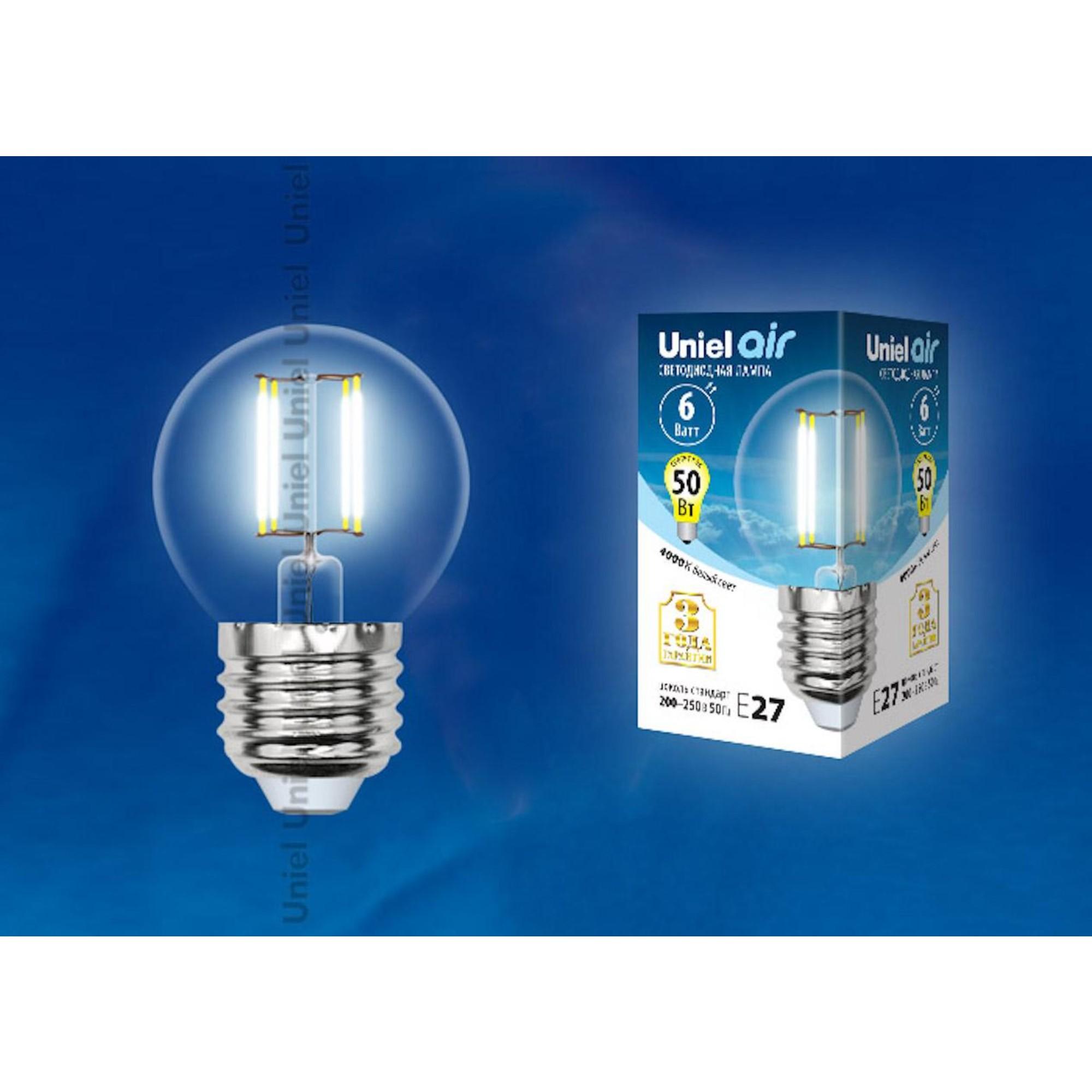 Светодиодная лампочка Uniel LED-G45-6W AIR UL-00002208