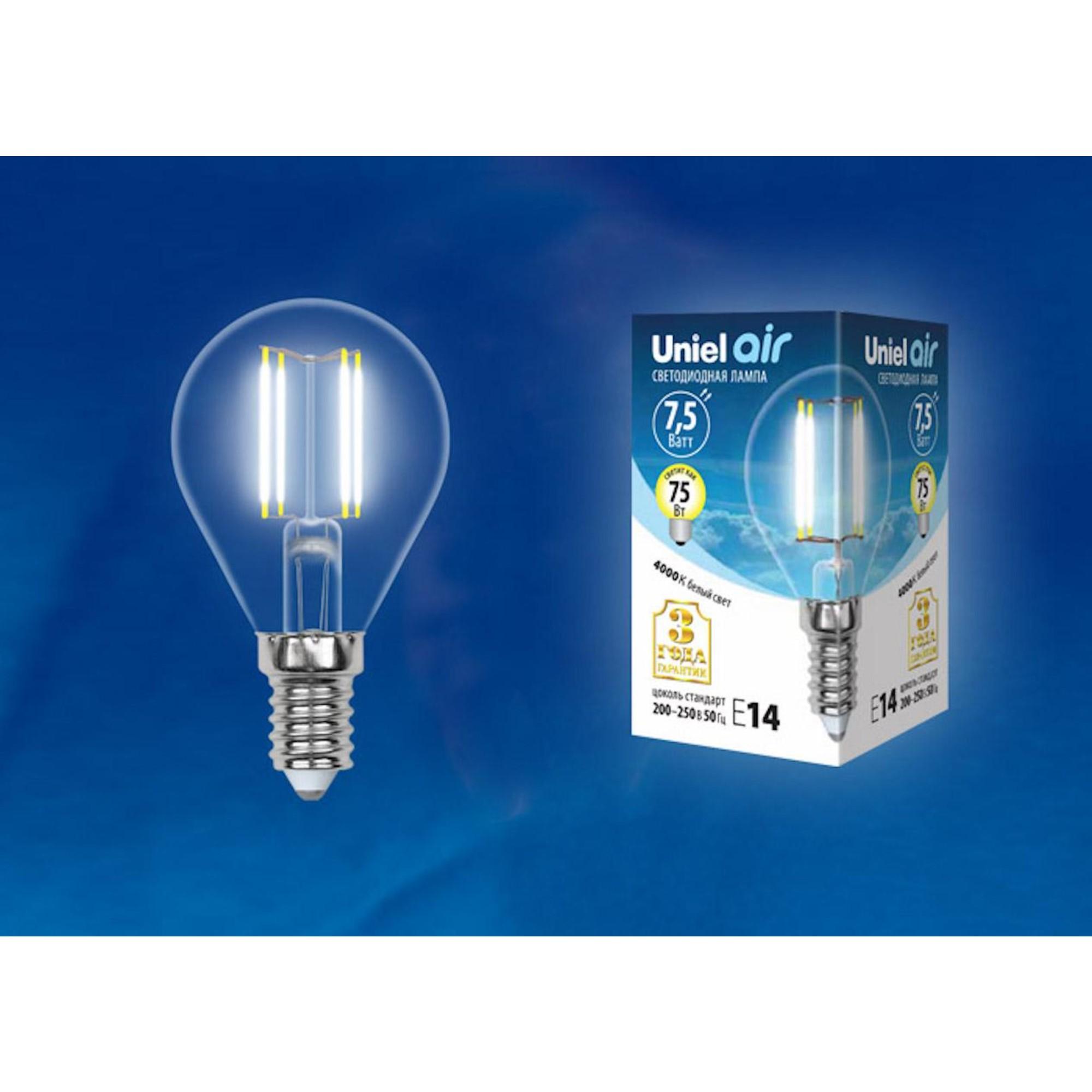 Светодиодная лампочка Uniel LED-G45-75W AIR UL-00003254