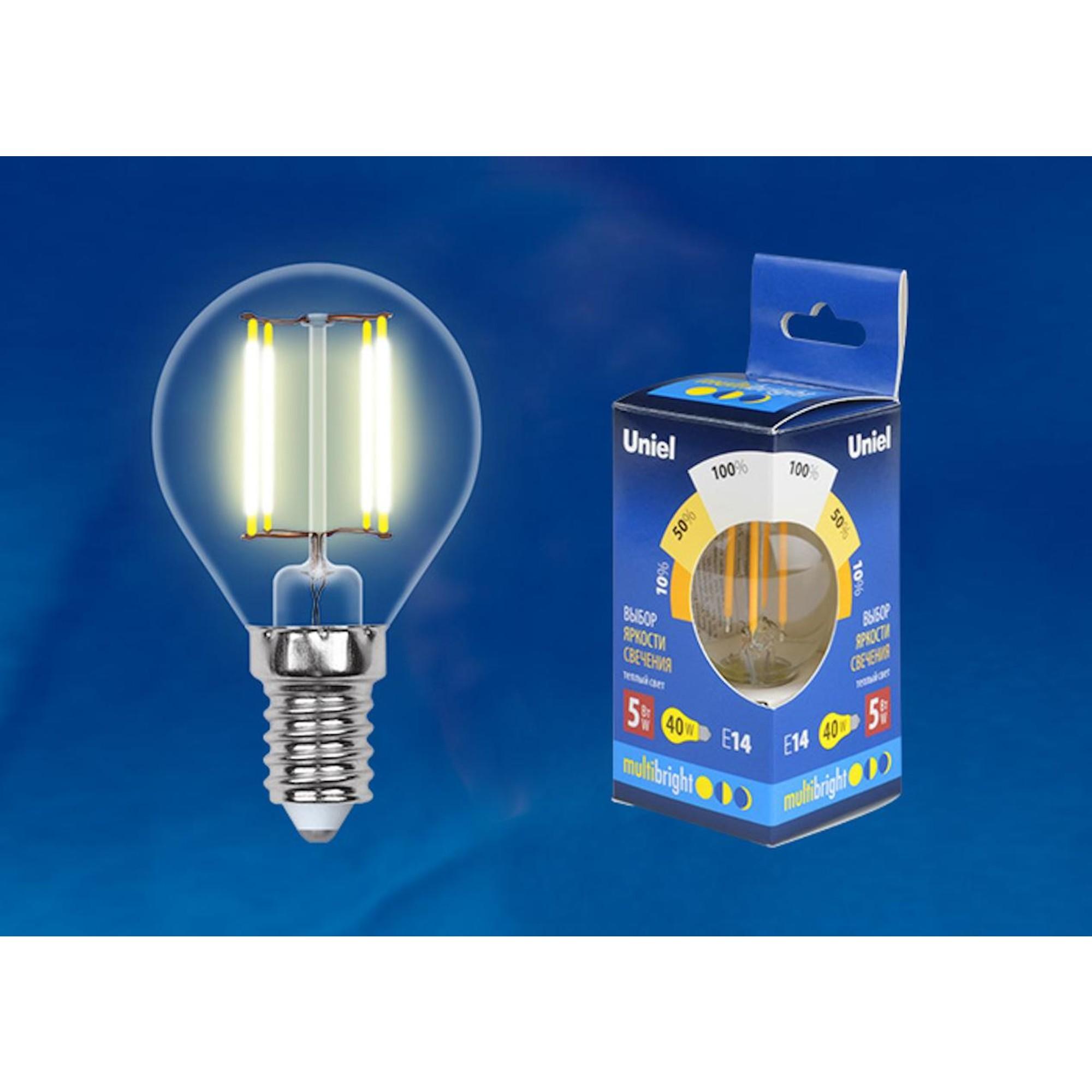 Светодиодная лампочка Uniel LED-G45-5W Multibright UL-00002369