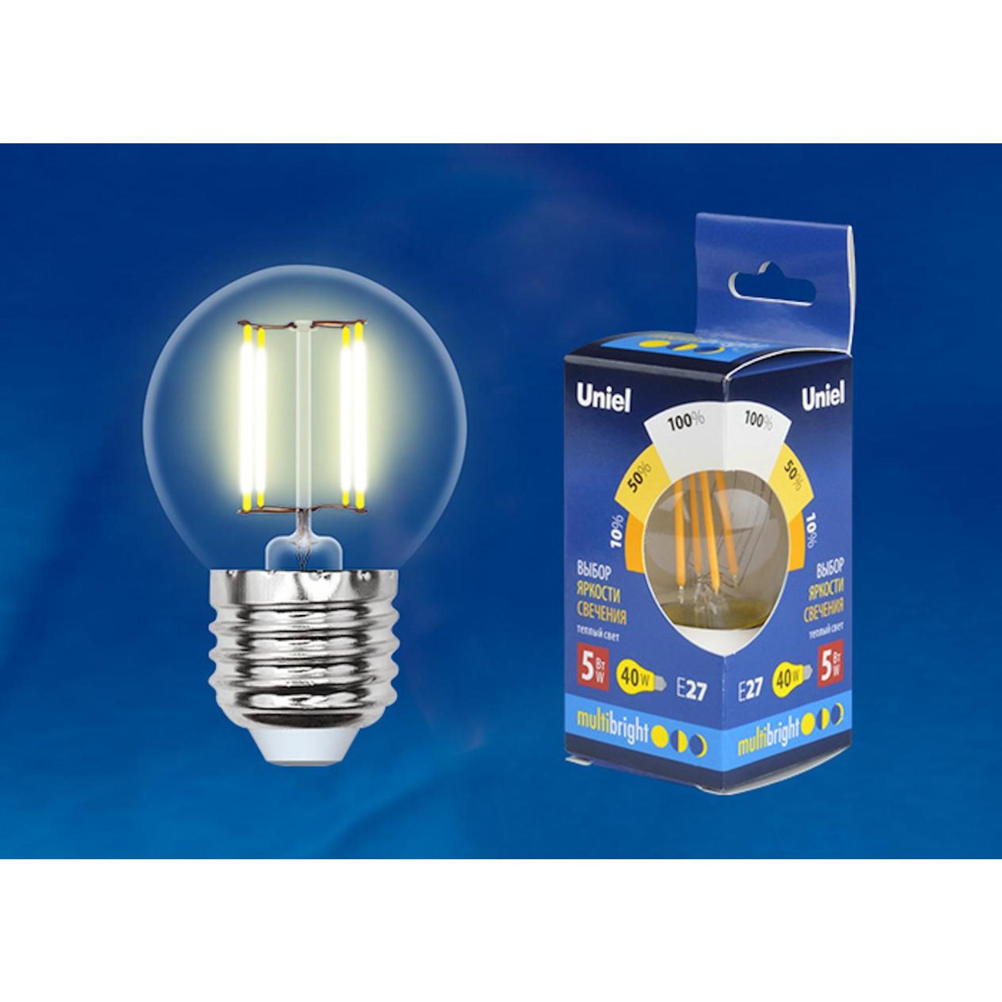 Светодиодная лампочка Uniel LED-G45-5W Multibright UL-00002370