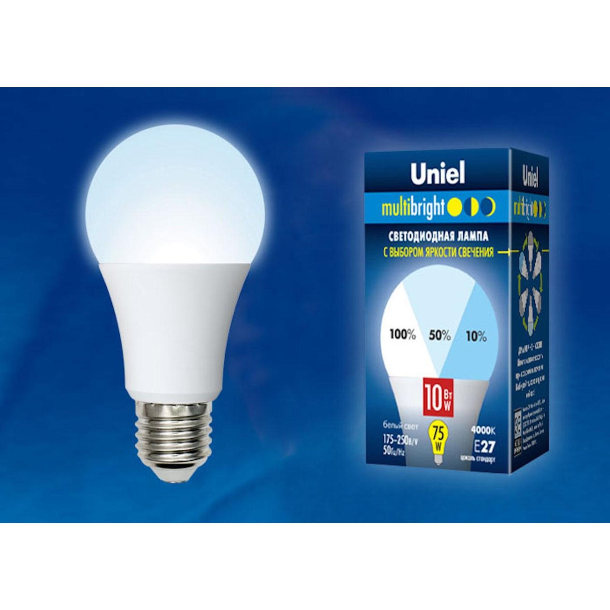 Светодиодная лампочка Uniel LED-A60-10W Multibright UL-00002372