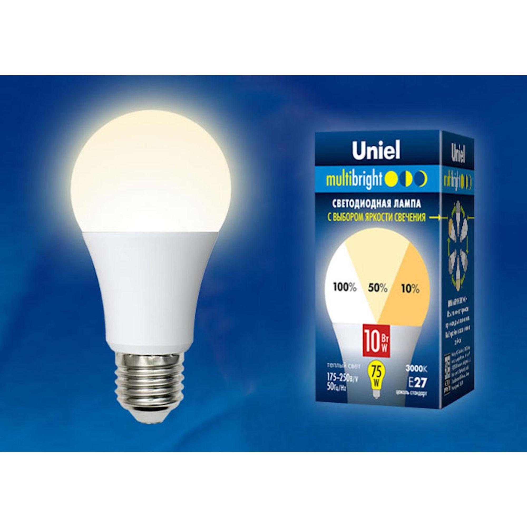 Светодиодная лампочка Uniel LED-A60-10W Multibright UL-00002371